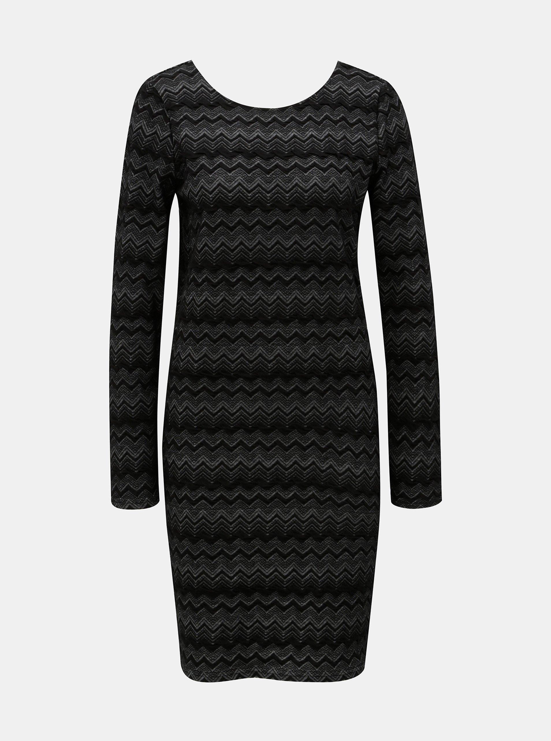 Černé vzorované pouzdrové šaty ONLY
