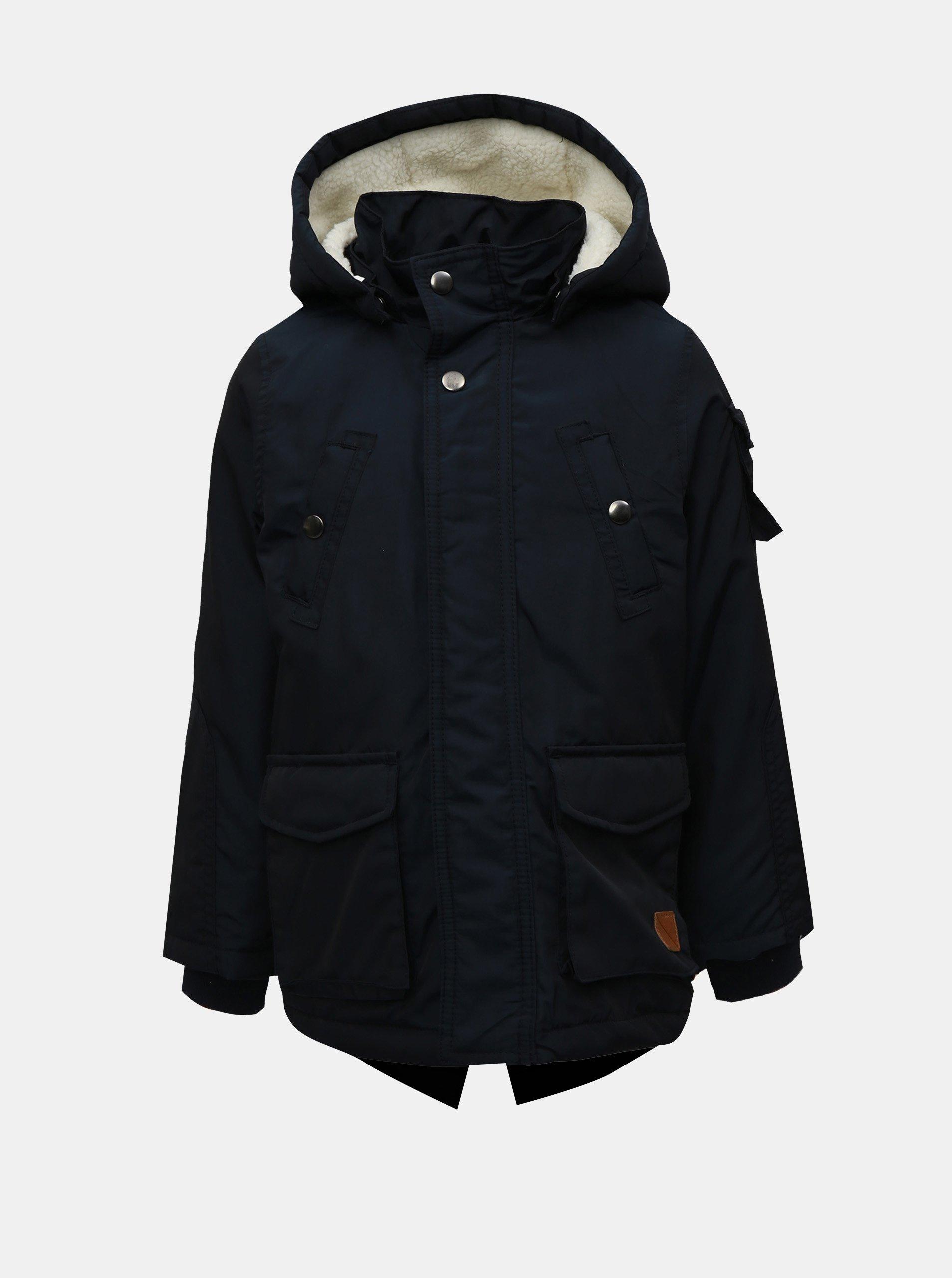 Tmavě modrá klučičí zimní bunda Name it Madoc