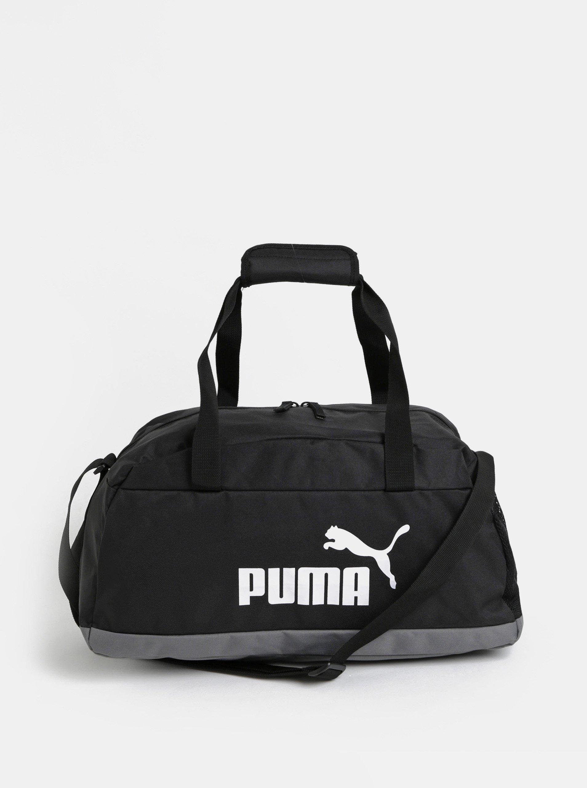 Černá sportovní taška s potiskem Puma e27db758320