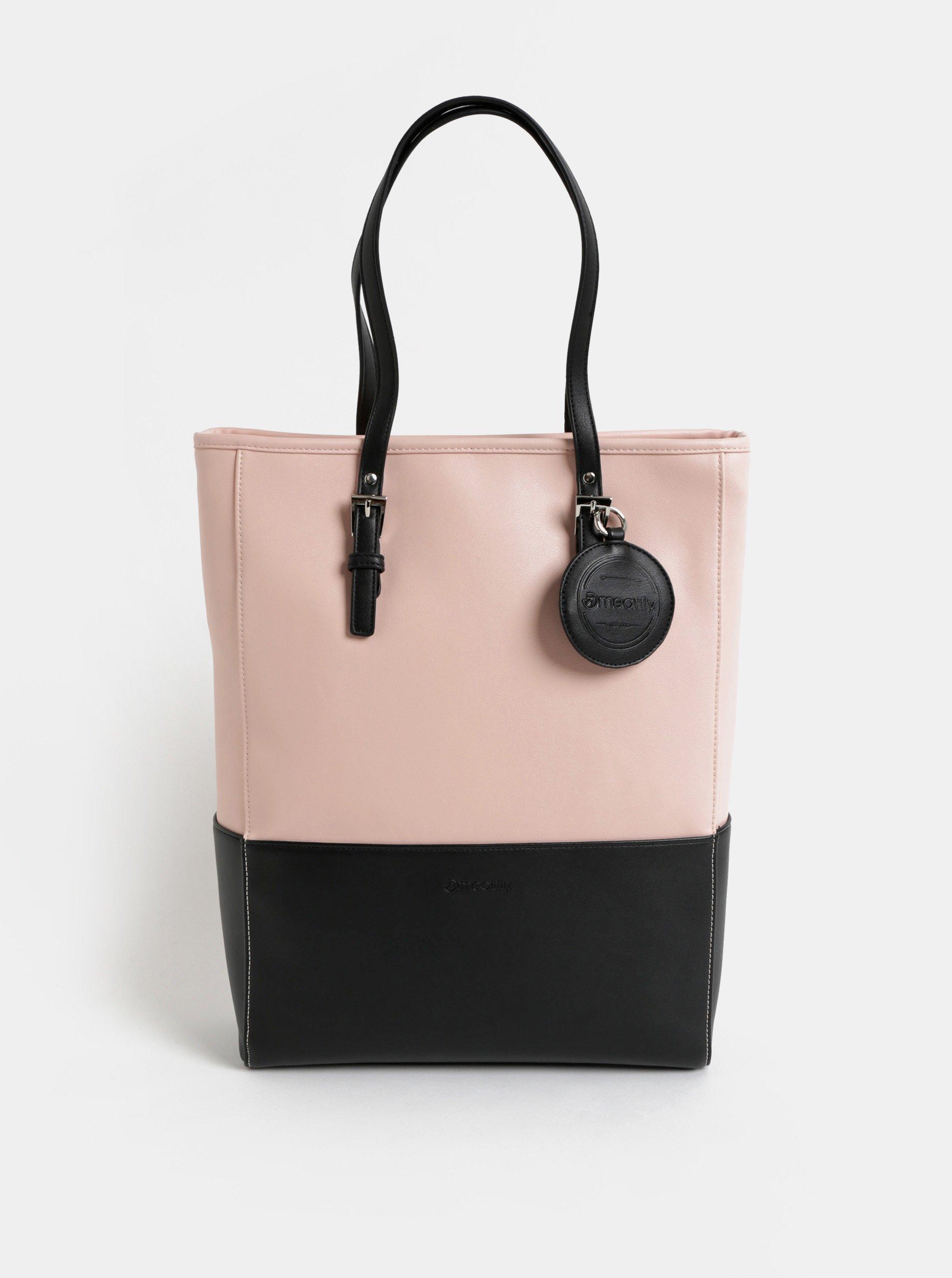 Černo-růžová velká kabelka Meatfly 2ab0e7275f