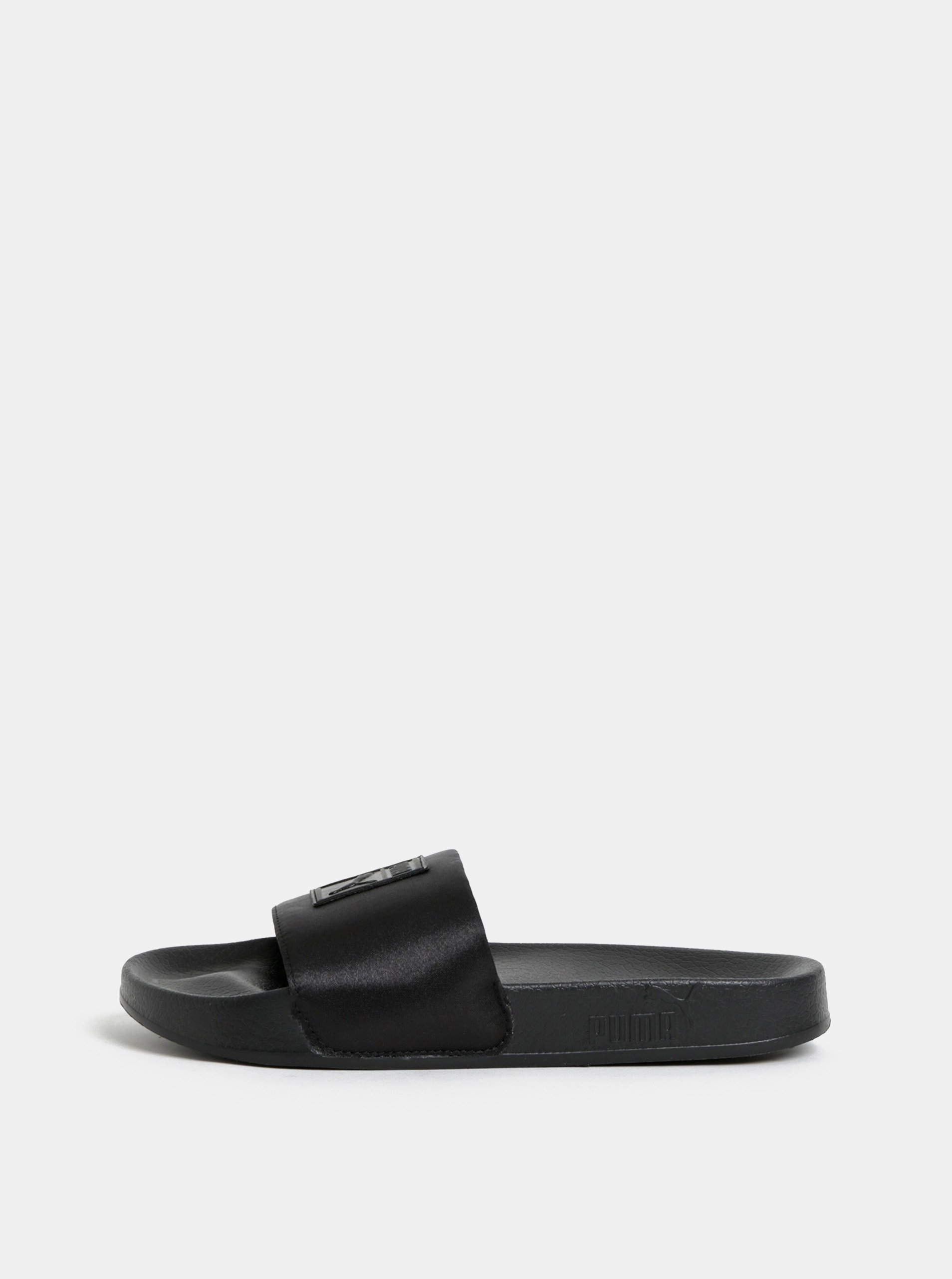4df66973399 Černé dámské lesklé pantofle s plastickým logem Puma Leadcat