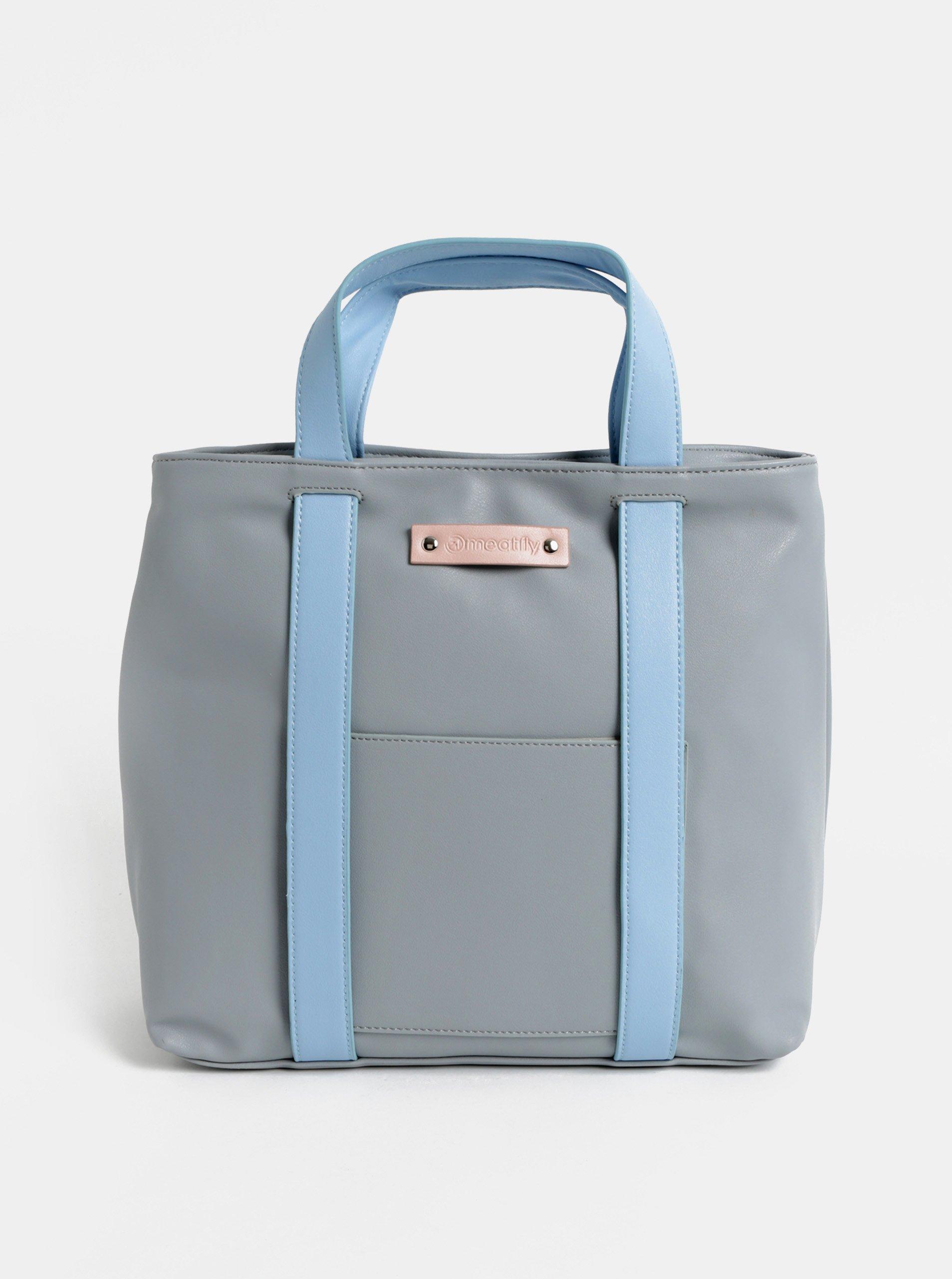 Modro-sivá dámska kabelka batoh Meatfly 965eed1e822