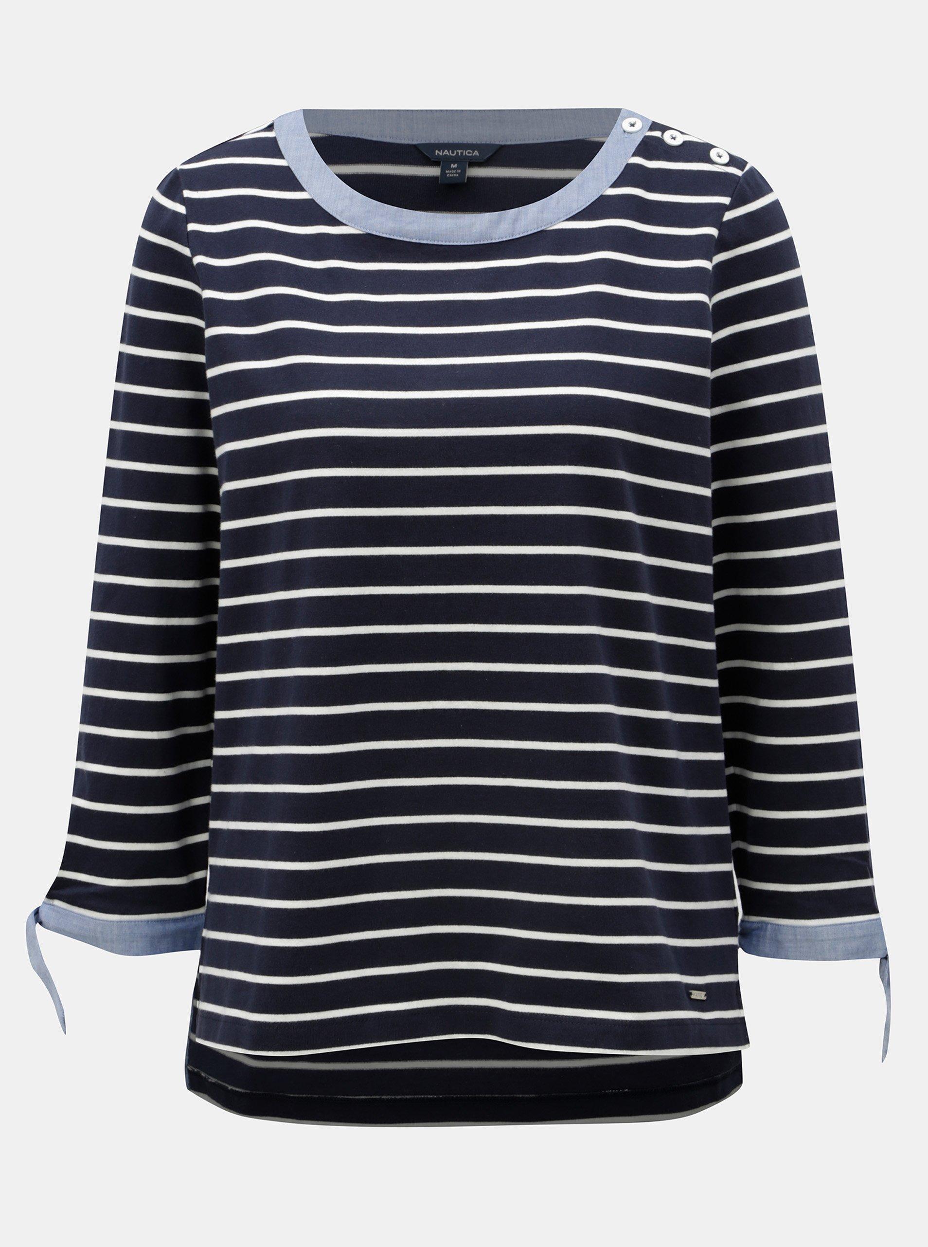 11c722dc57dc Tmavě modré pruhované tričko Nautica
