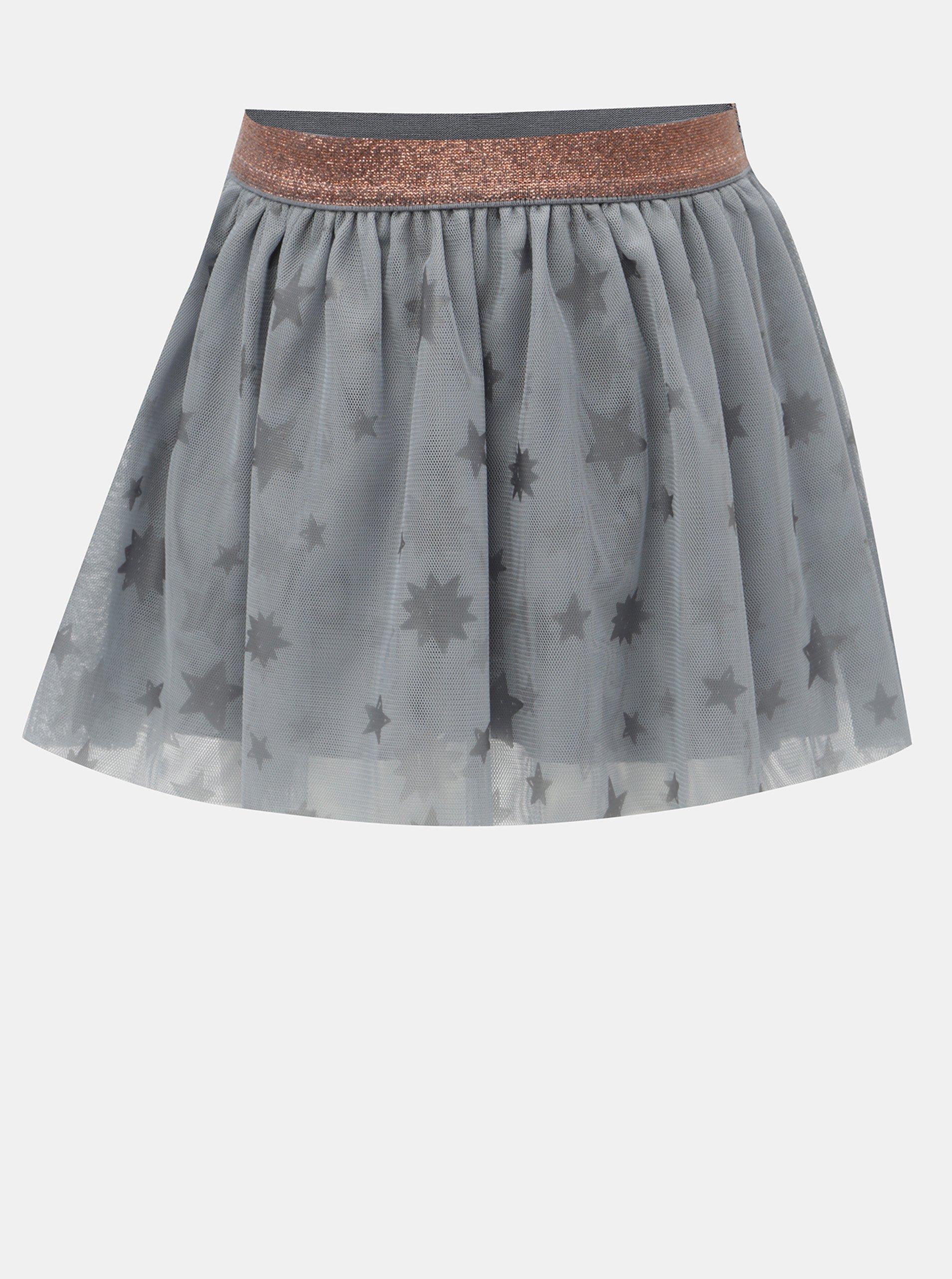 Šedá tylová sukně s potiskem hvězd BÓBOLI