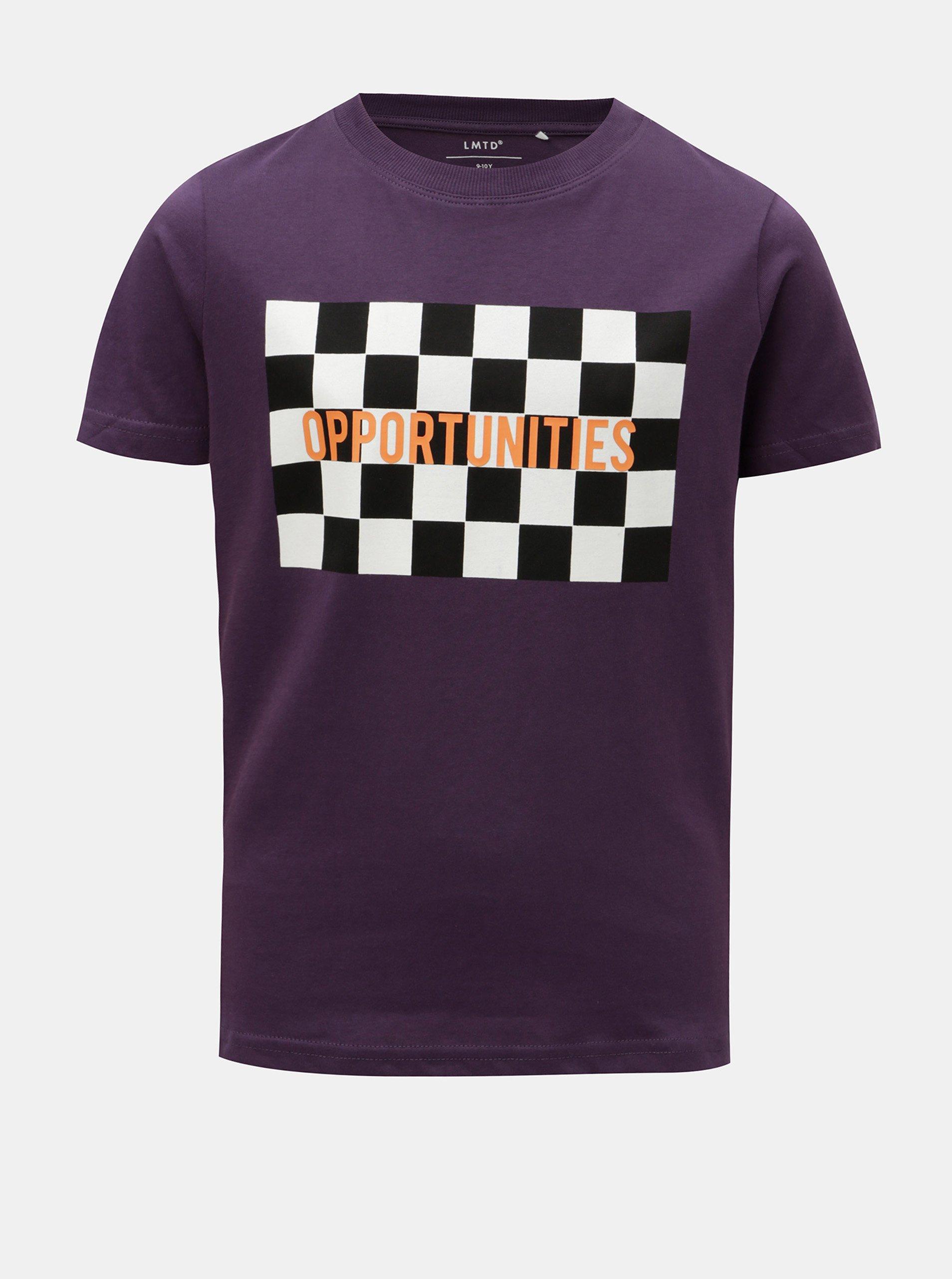 712bc8491e80 Fialové chlapčenské tričko s potlačou LIMITED by name it
