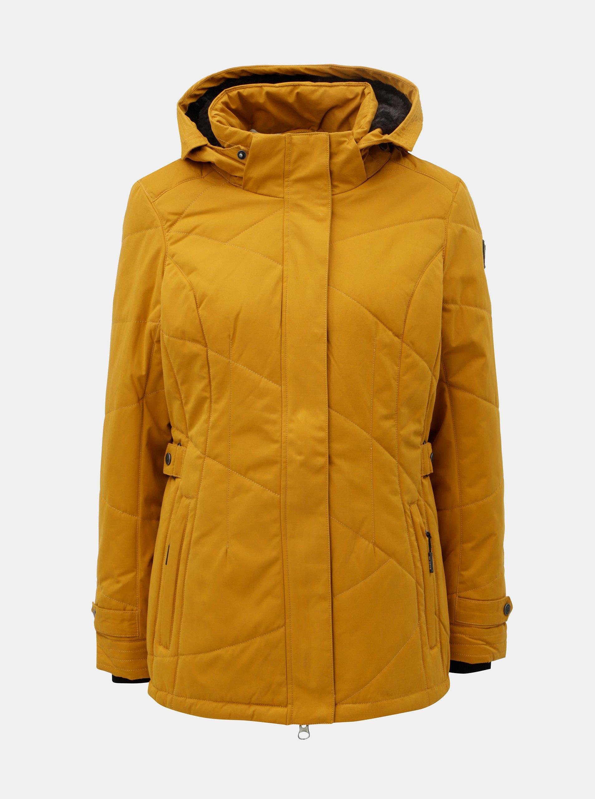 Hořčicová dámská zimní voděodolná bunda killtec