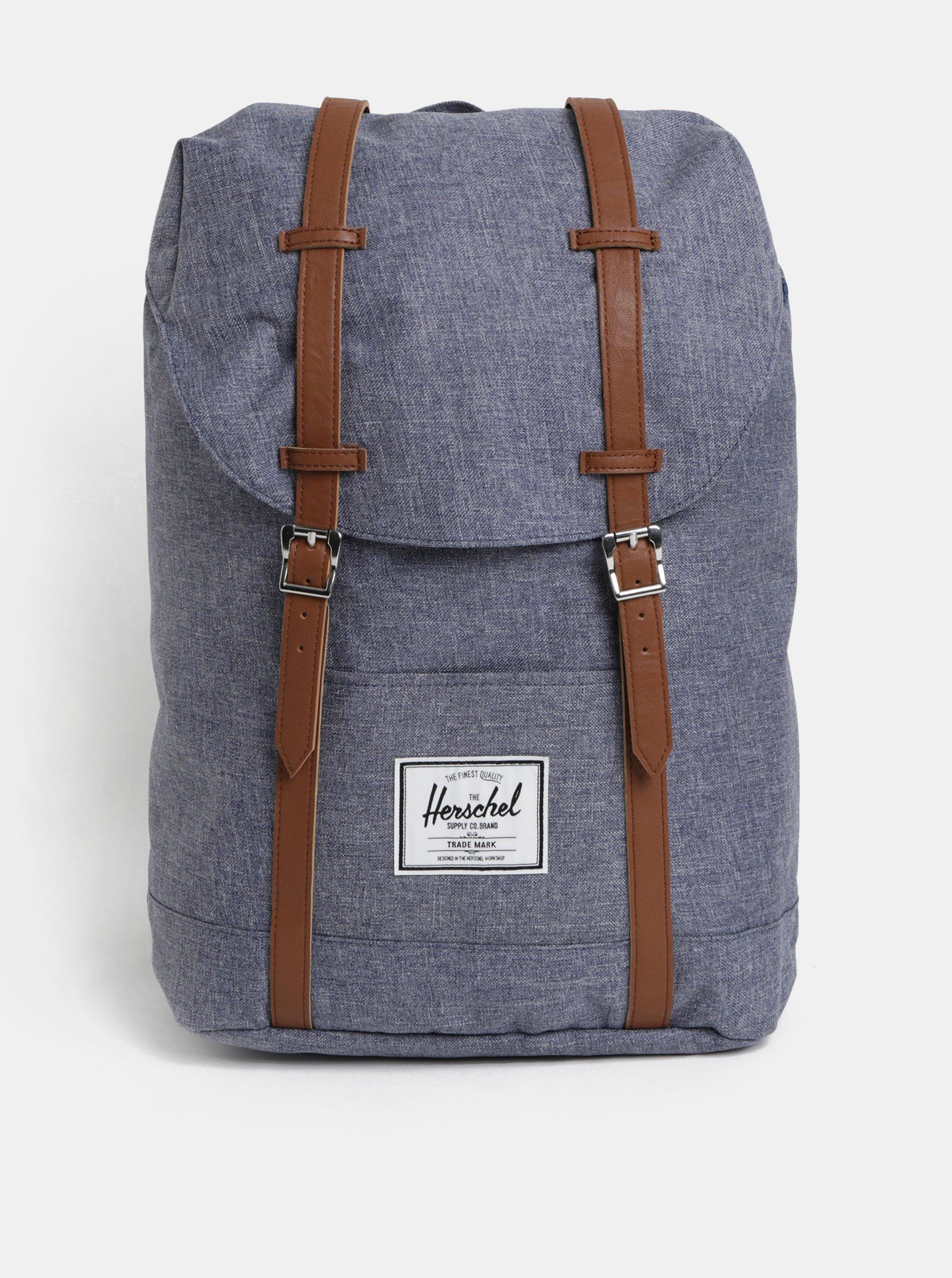 Modrý žíhaný batoh Herschel Retreat 19 5c72cde46e