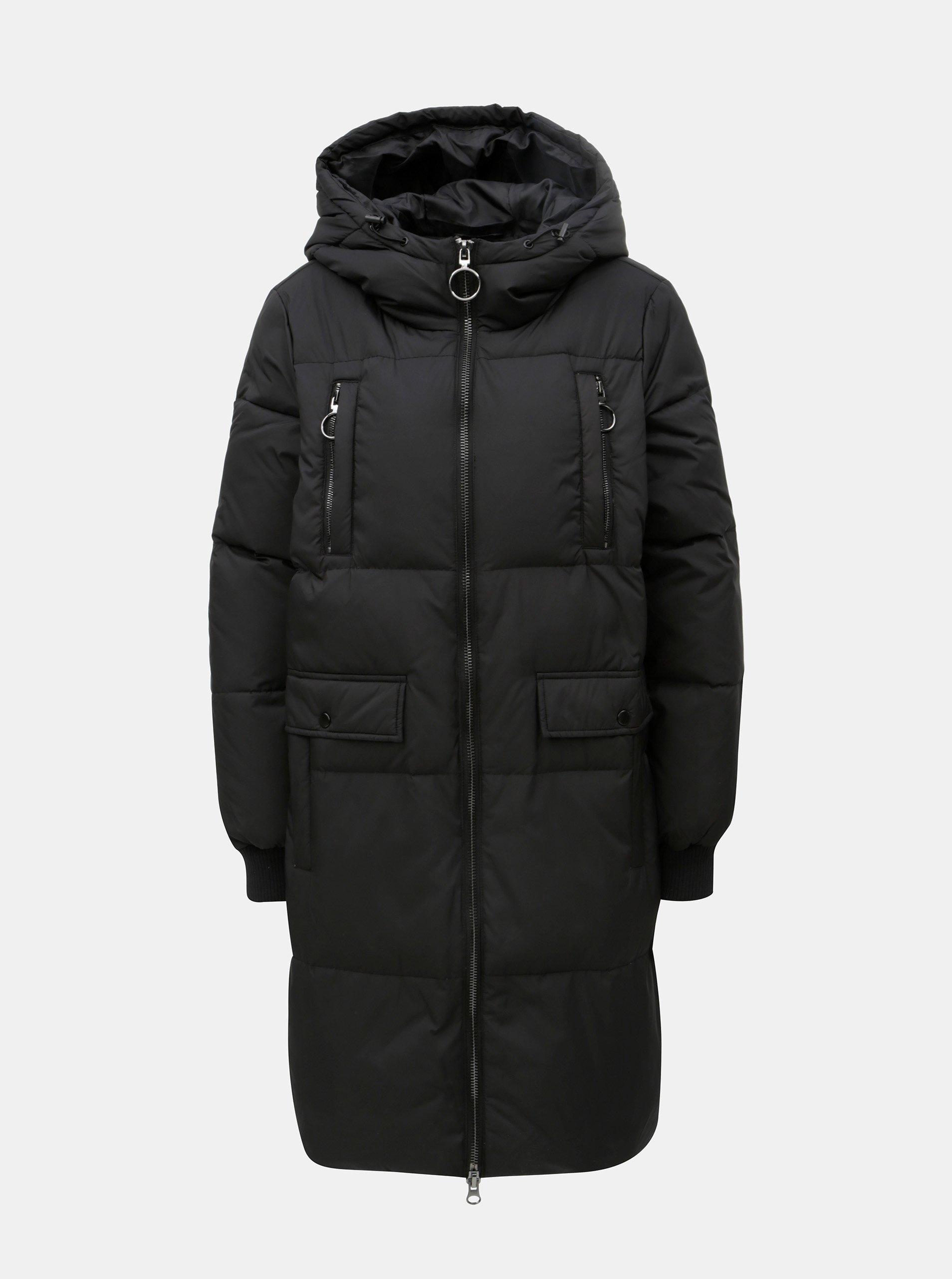 Černý prošívaný kabát VERO MODA Comfy