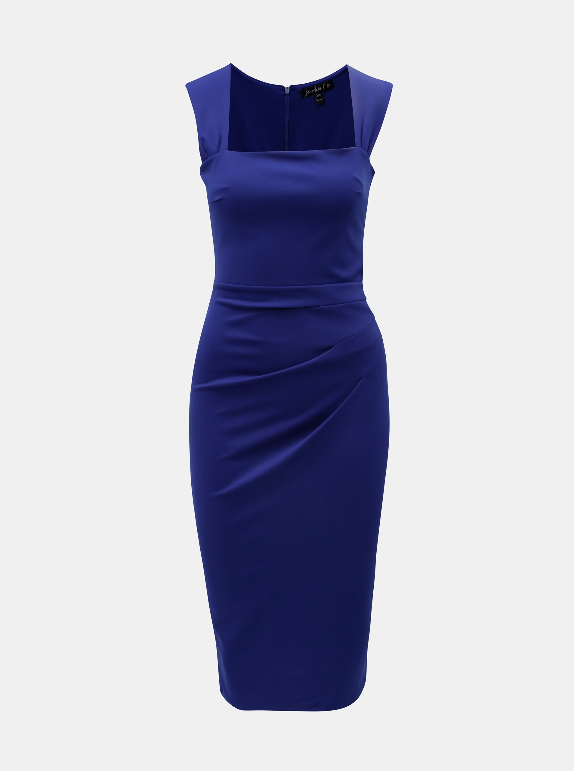 Modré puzdrové šaty so zberkaním na boku Scarlett B 0cd7b5fa032
