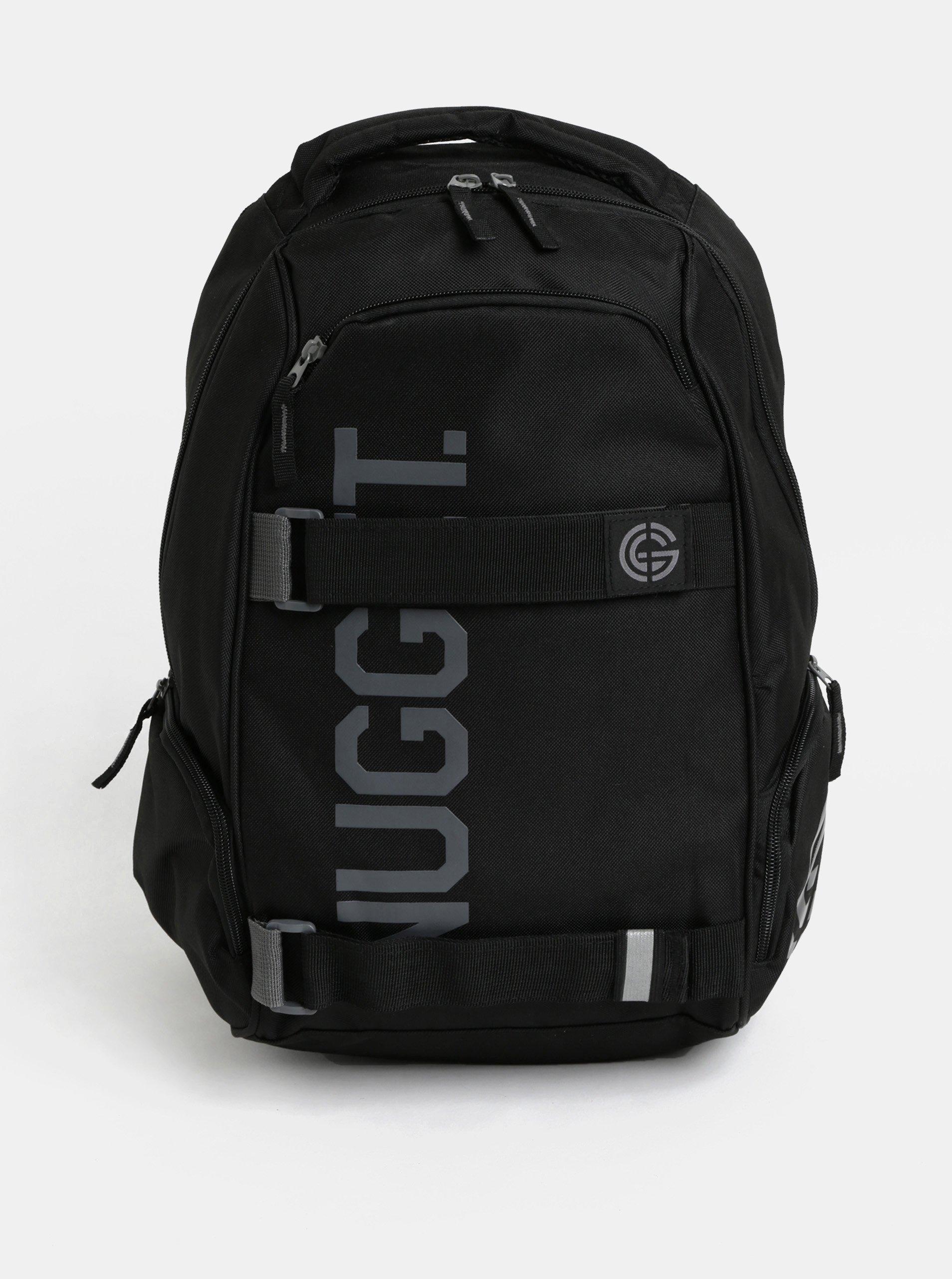 Černý batoh s potiskem Nugget 24 l