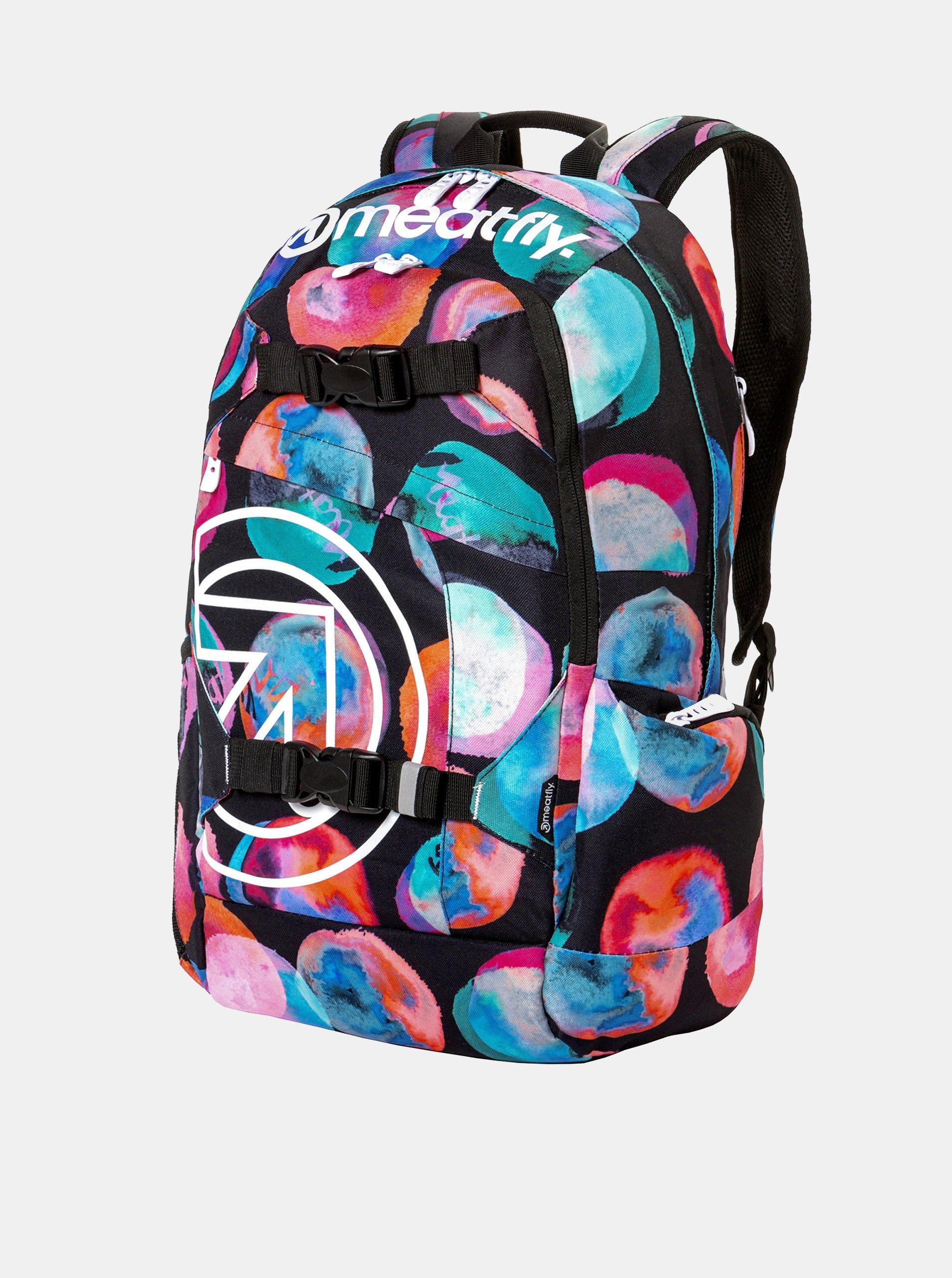 5a80f43188 Čierny batoh s farebnými bodkami a peračníkom 2v1 Meatfly 20 l