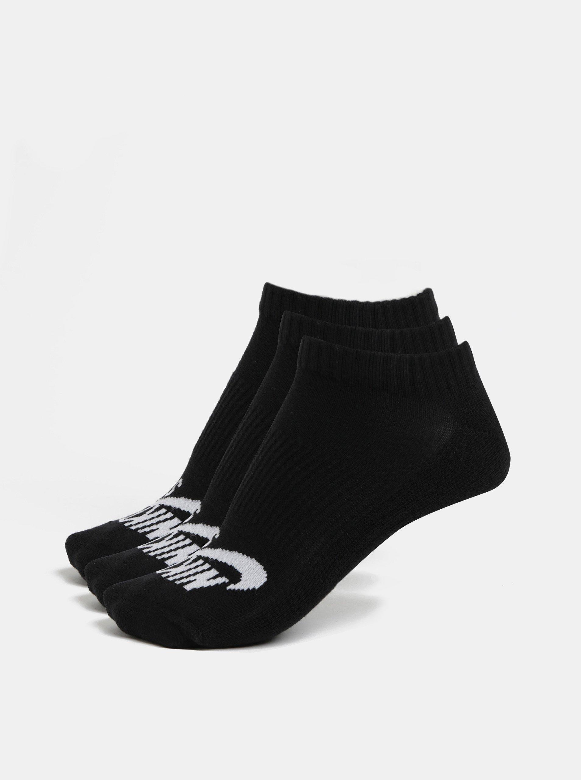 Sada tří párů unisex kotníkových ponožek v černé barvě Nike