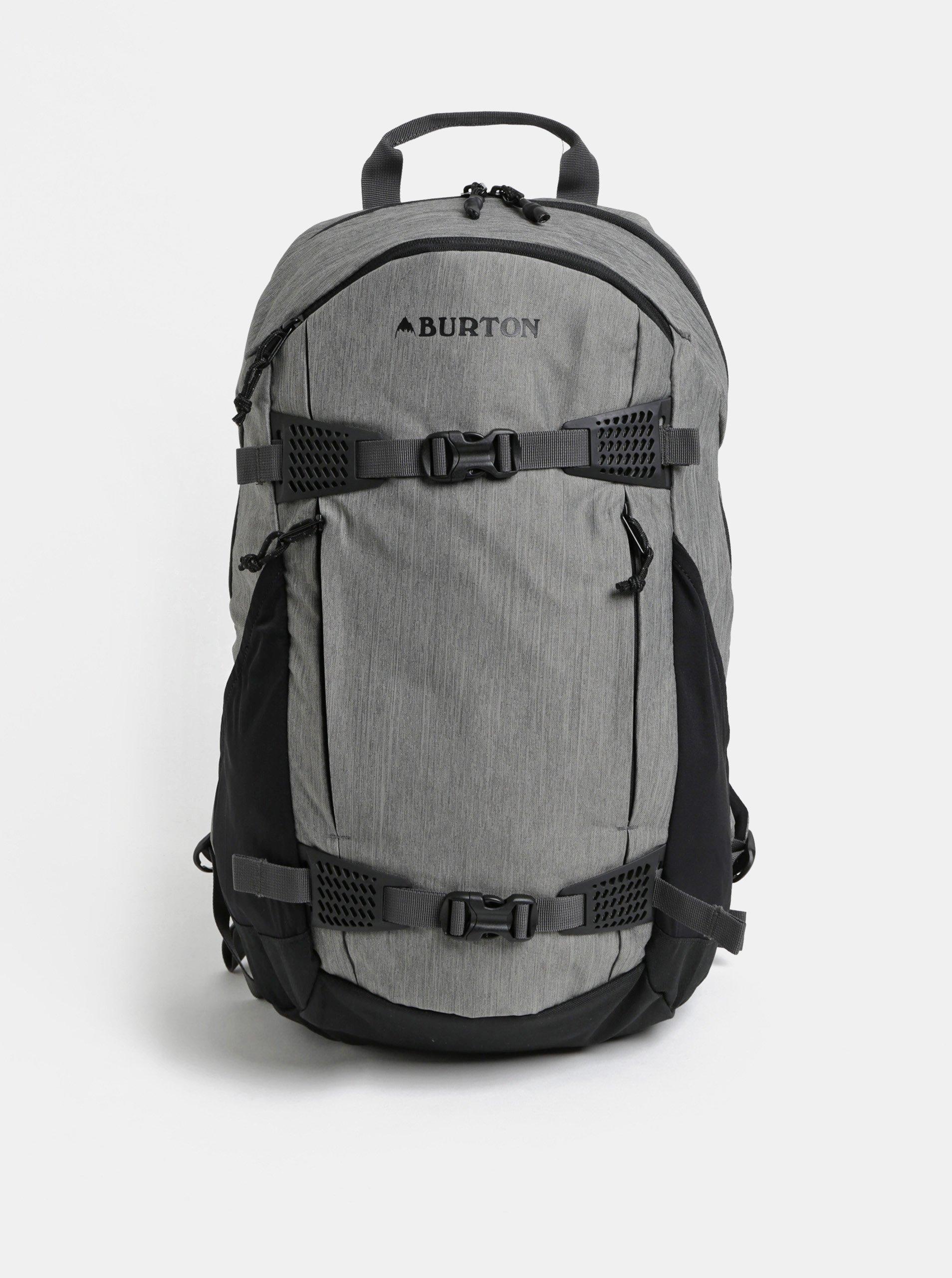 3c7d147ee4 Čierno-sivý melírovaný batoh Burton 25 l
