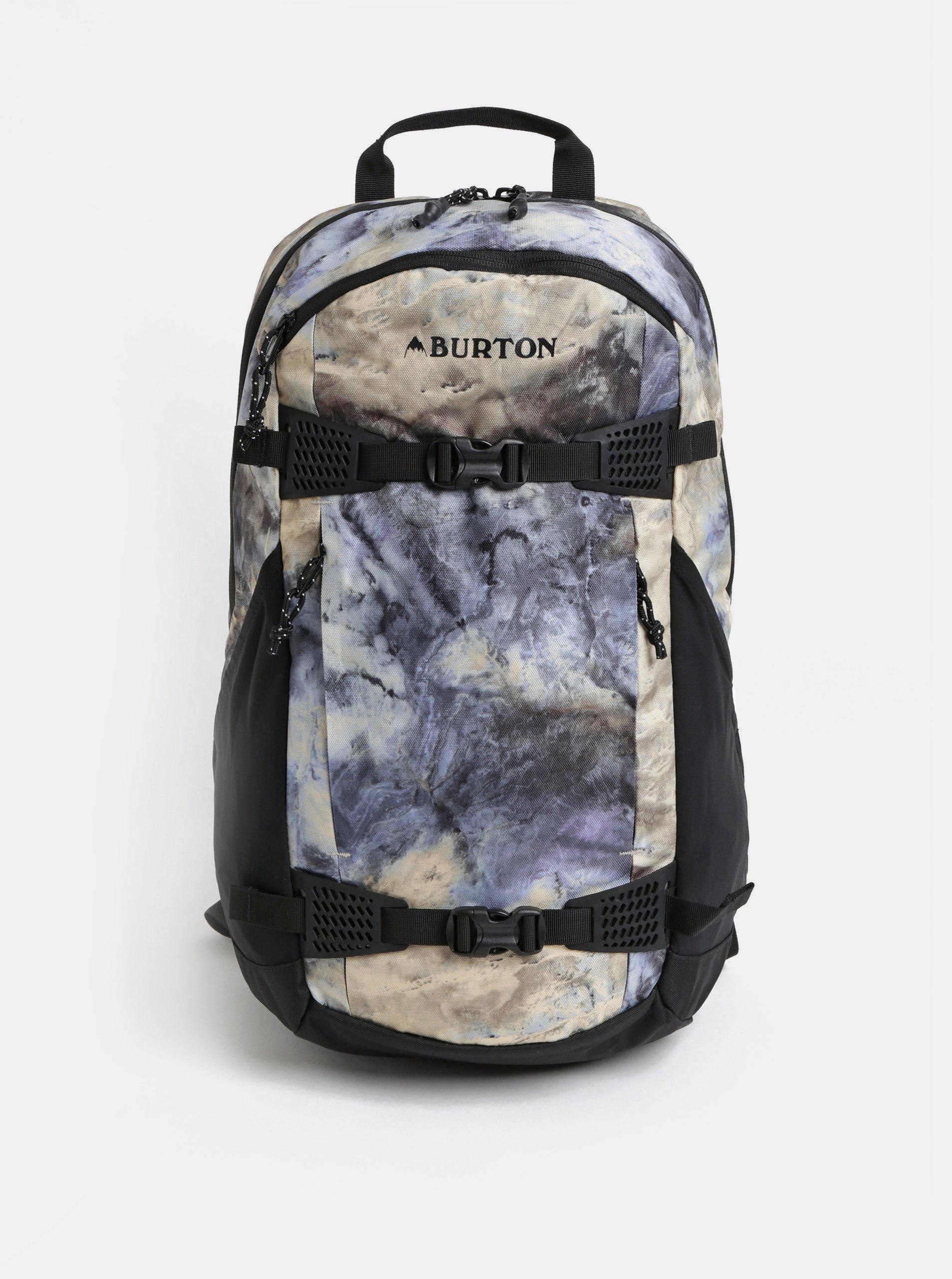 Žluto-modrý vzorovaný batoh Burton 25 l 8d2a58fbc4