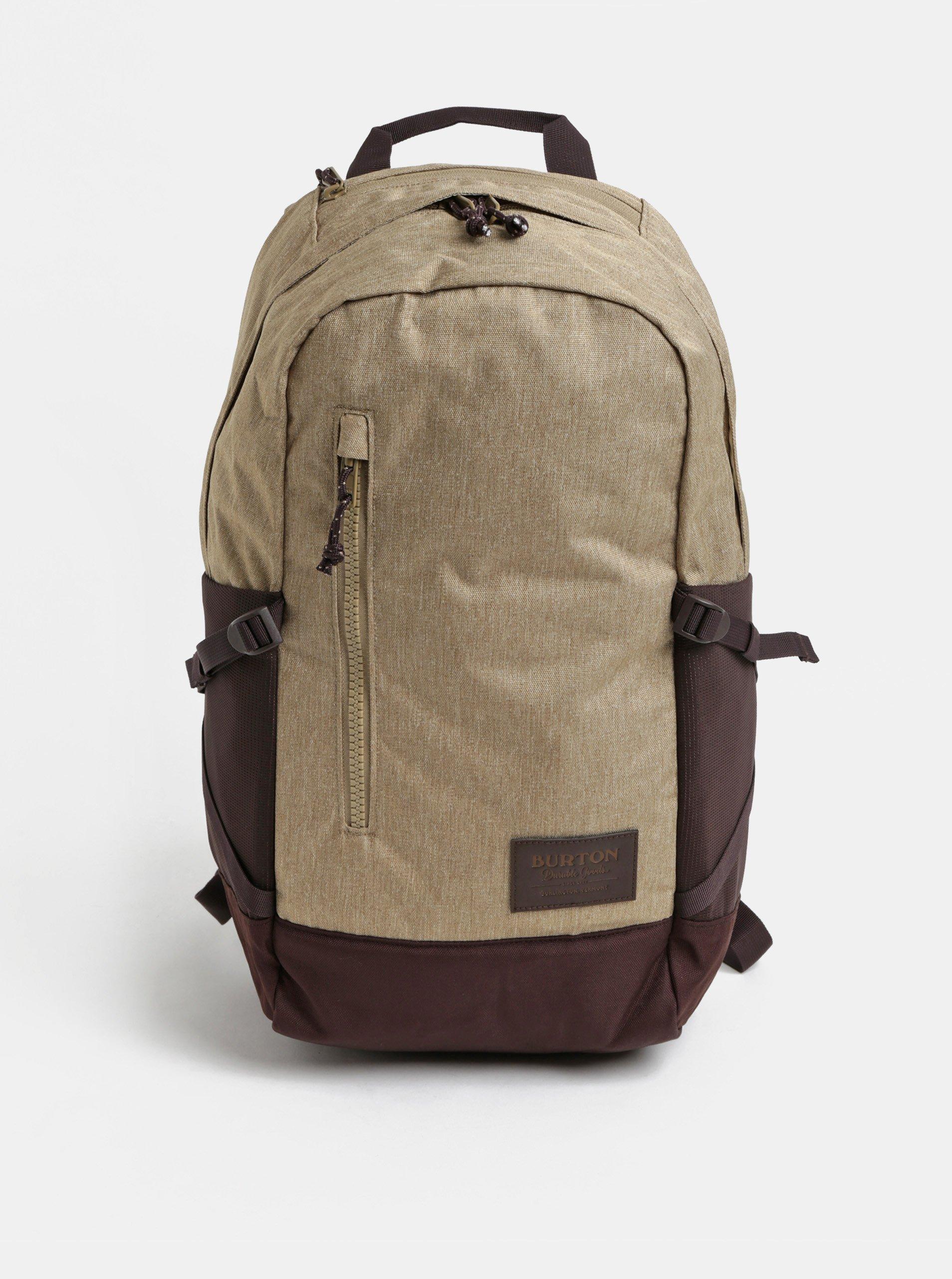 Hnedý melírovaný batoh Burton 21 l