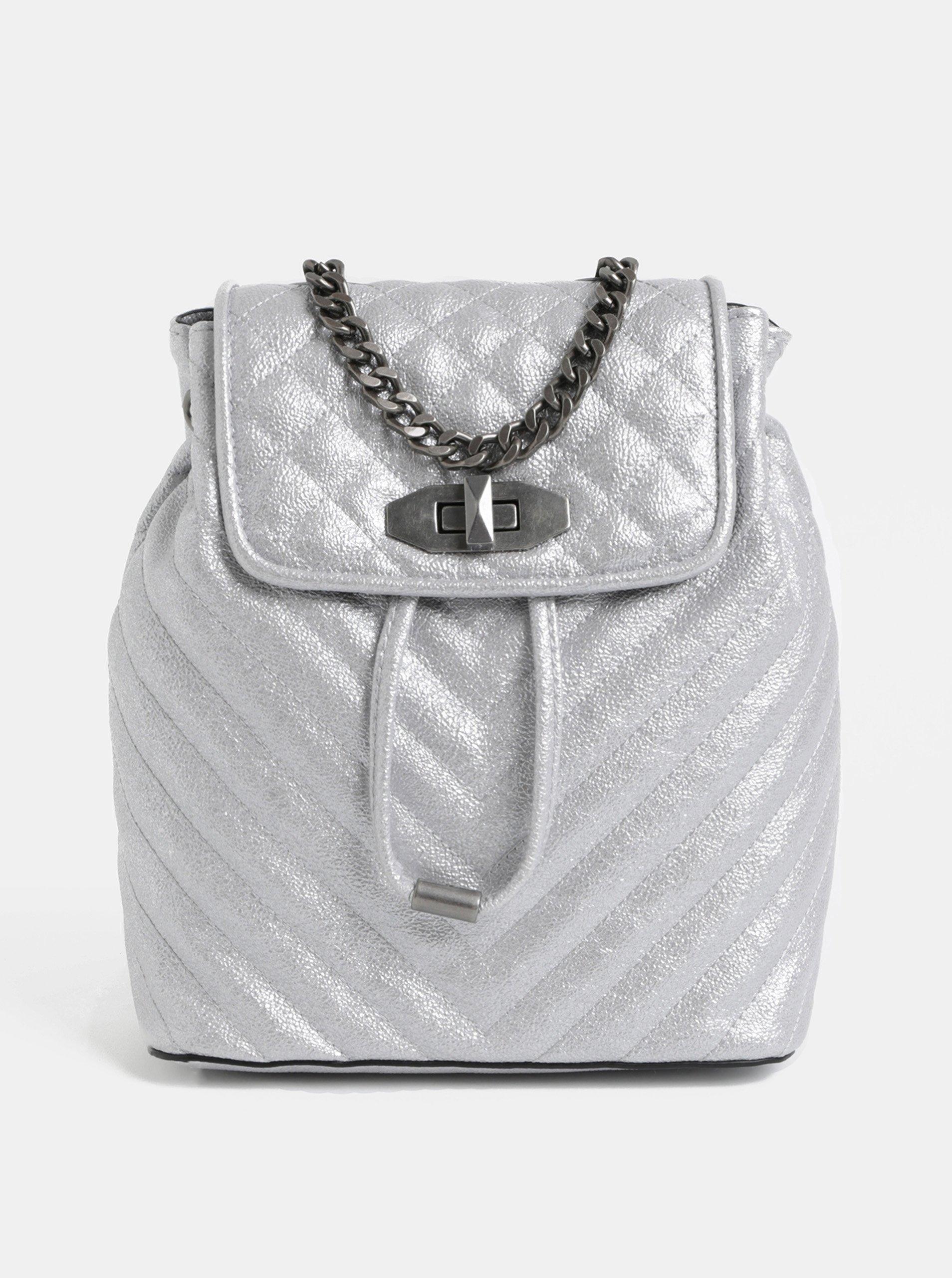 Dámský batoh ve stříbrné barvě ALDO
