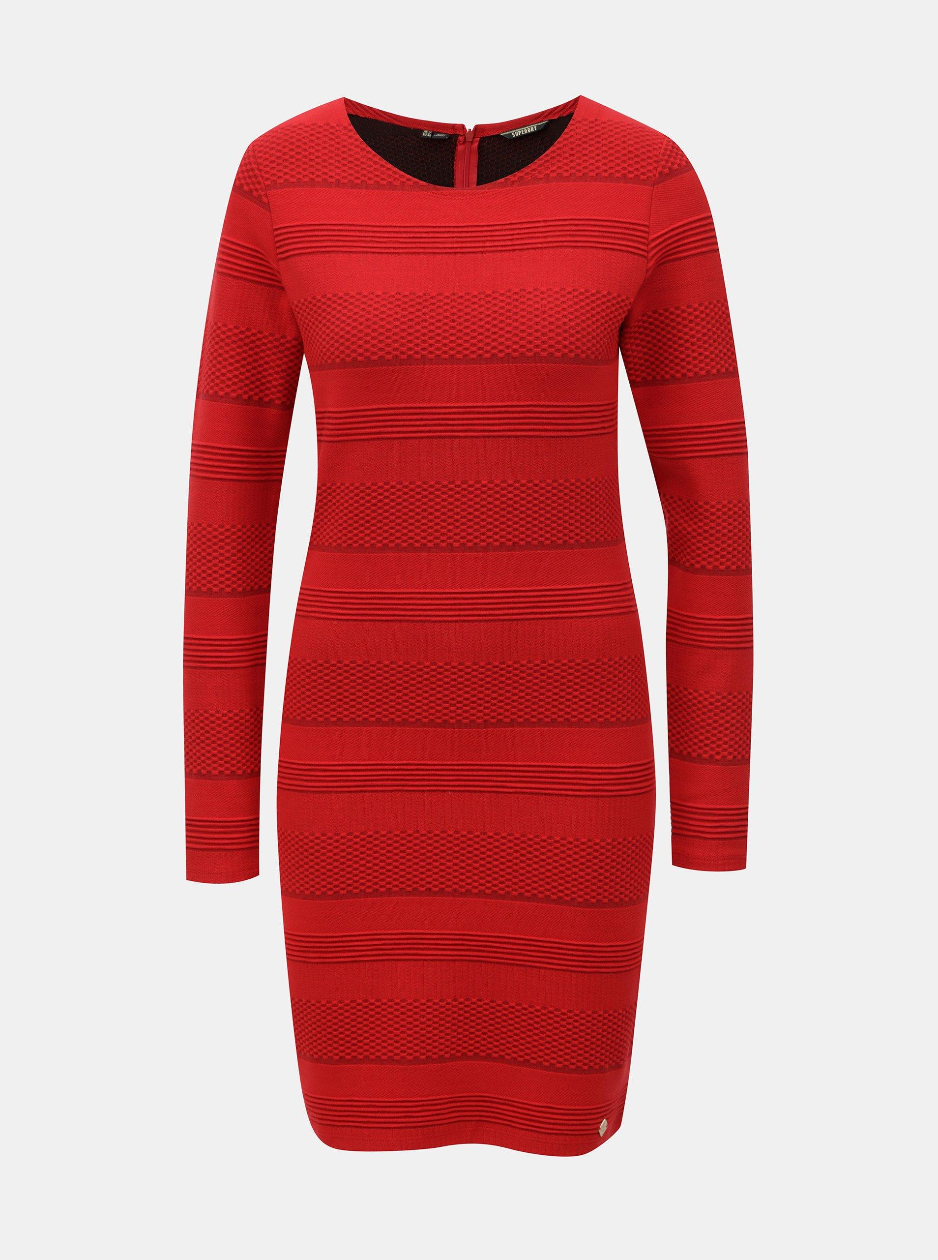 26ca5469d617 Červené puzdrové šaty Superdry