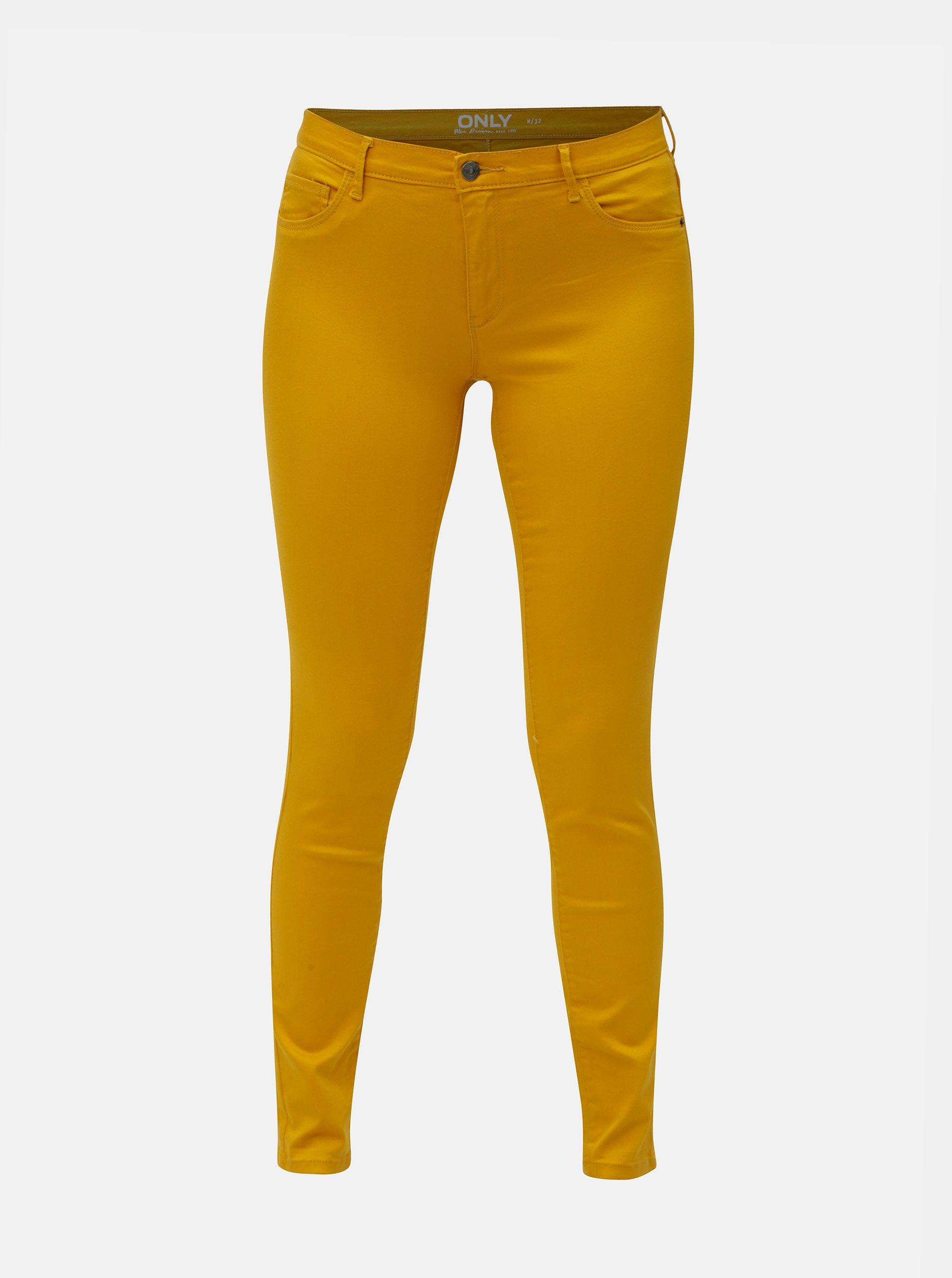 Žluté skinny fit džíny ONLY