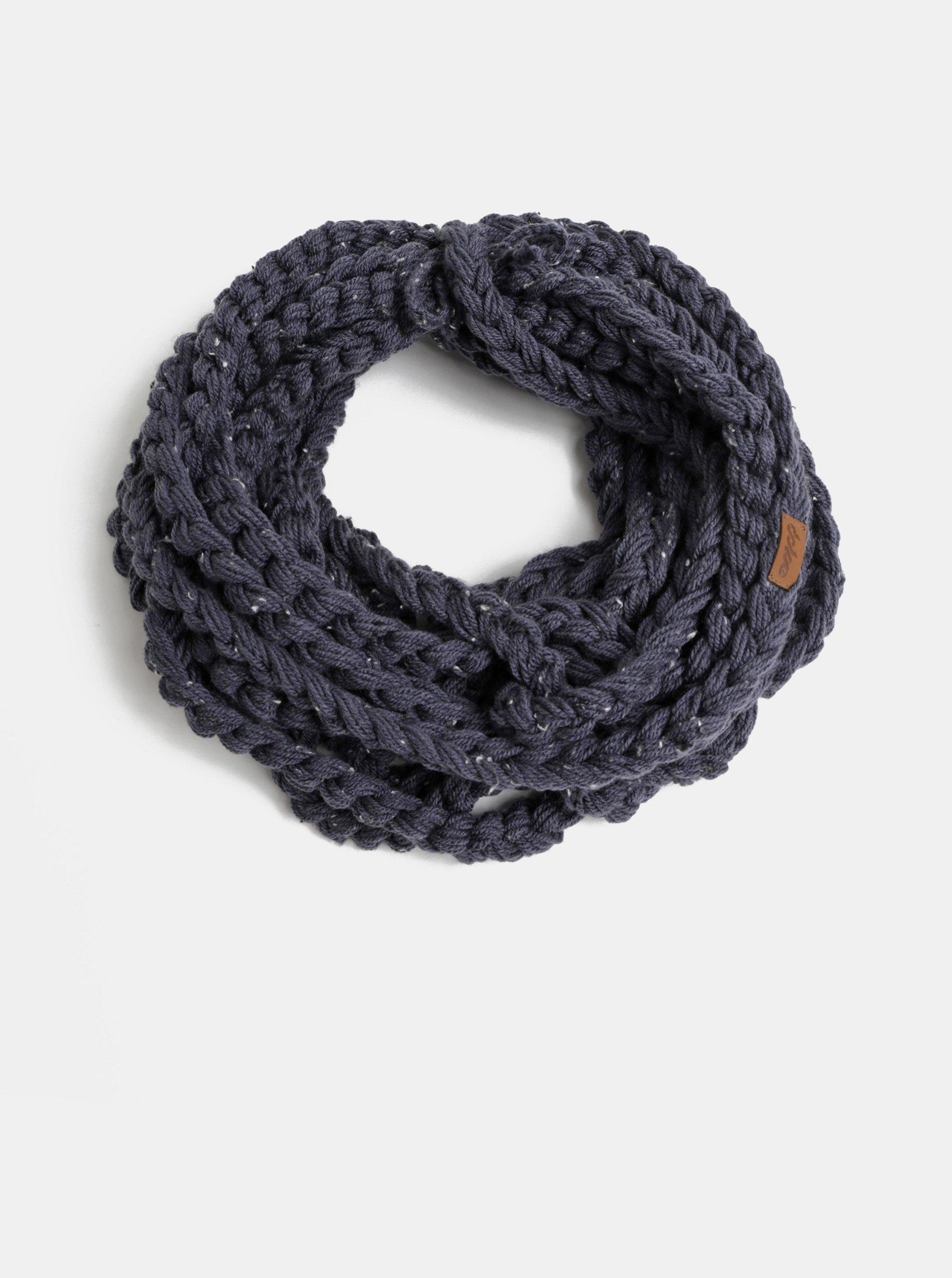 Tmavě modrá dámská pletená šála DOKE b0911bd998