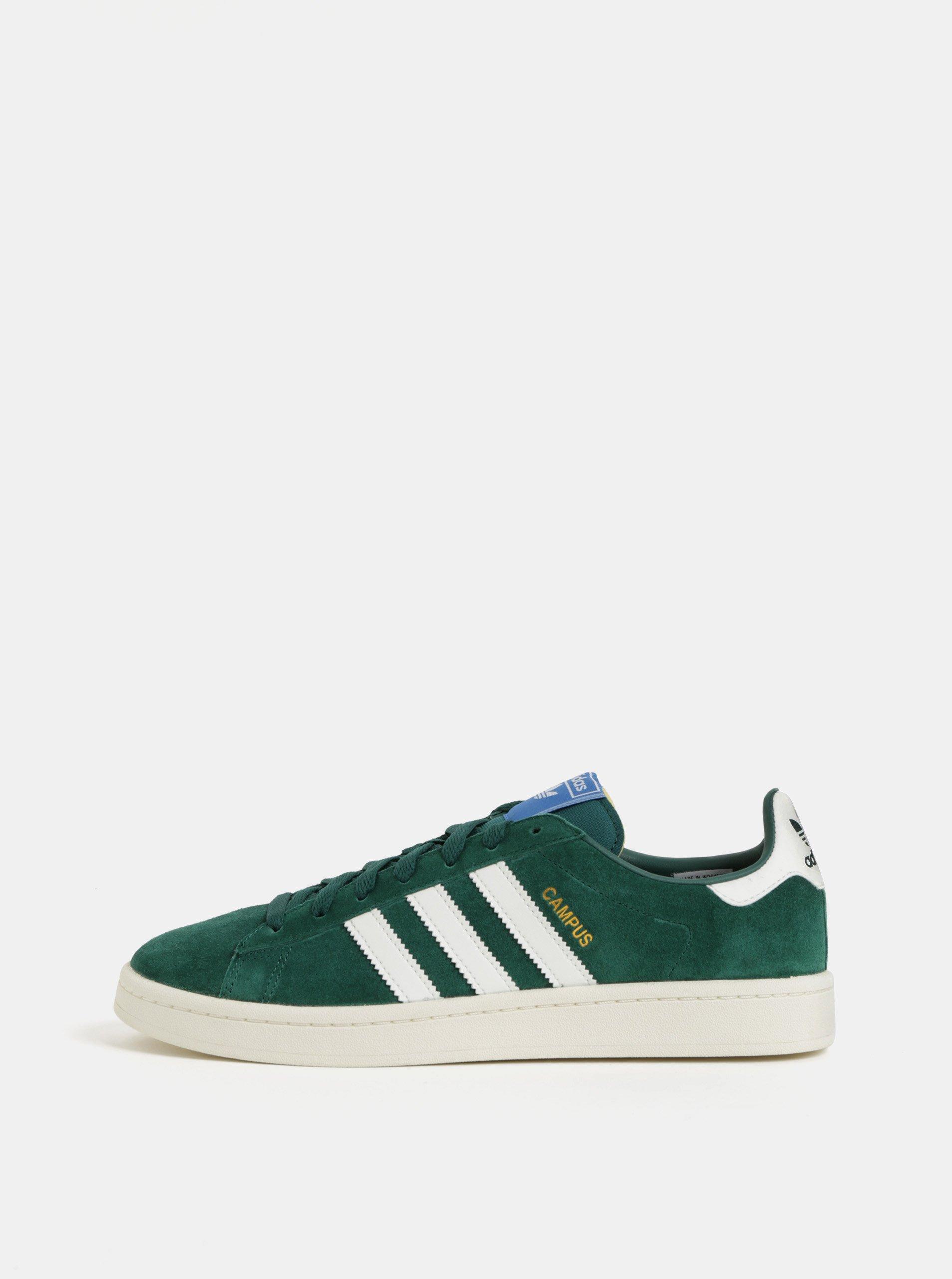 53fab5e1fe Zelené pánske semišové tenisky adidas Originals Campus