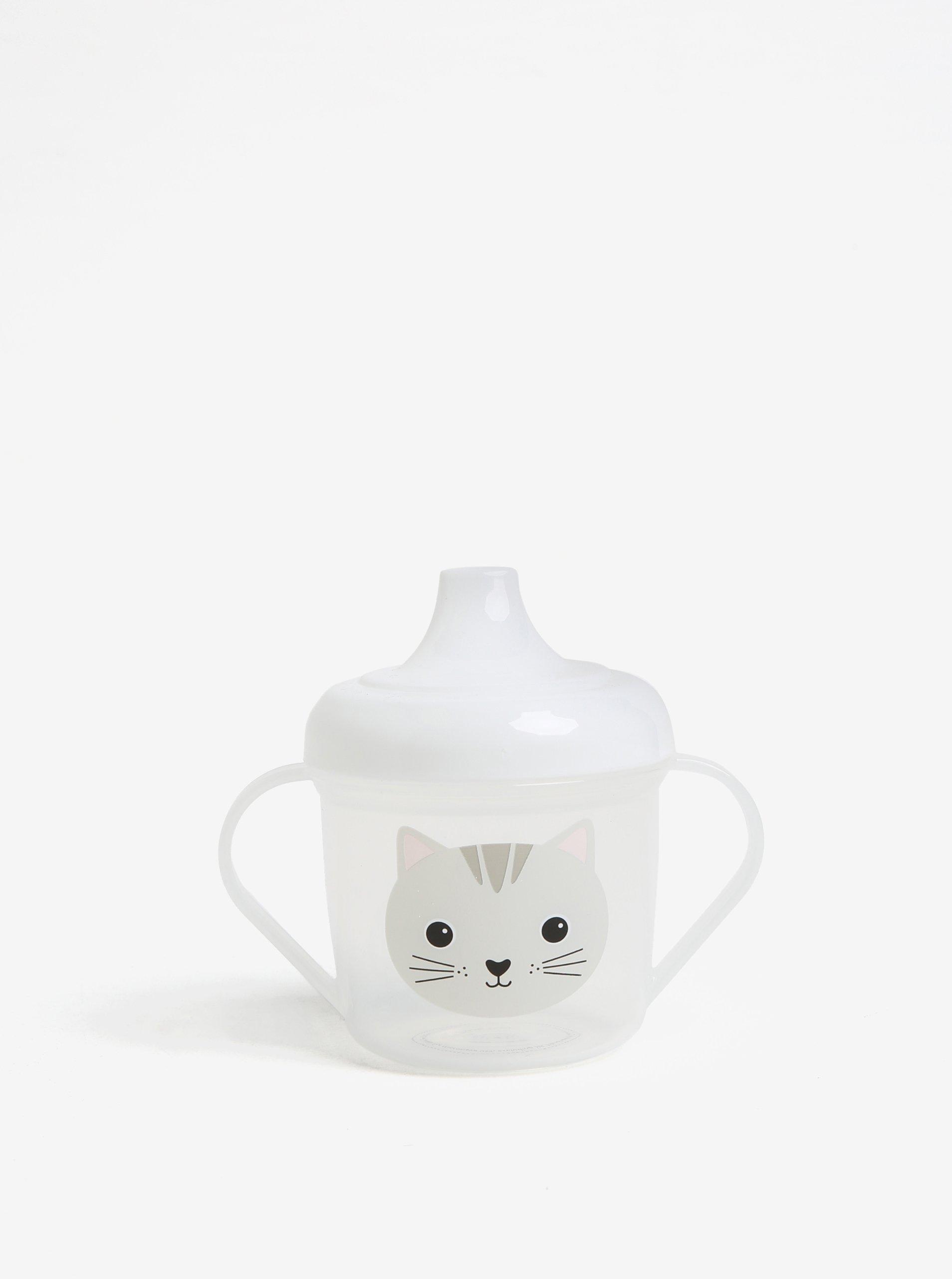 Transparentný detský hrnček s motívom mačky Sass & Belle