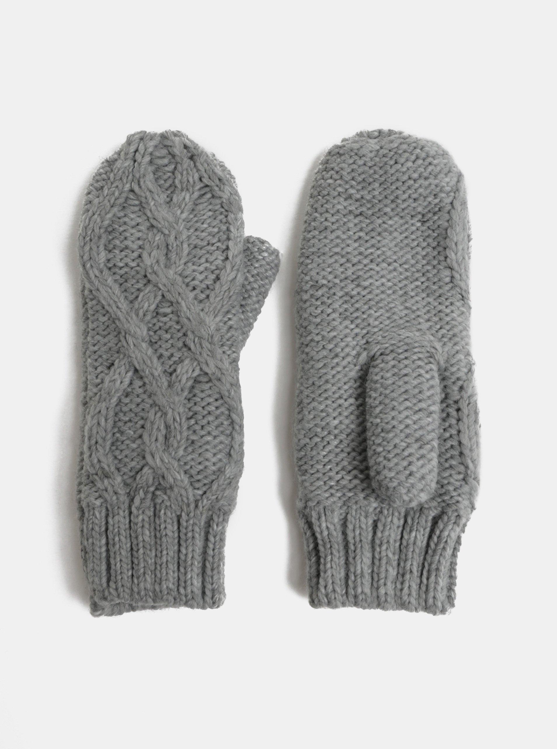 Sivé rukavice VERO MODA Cala