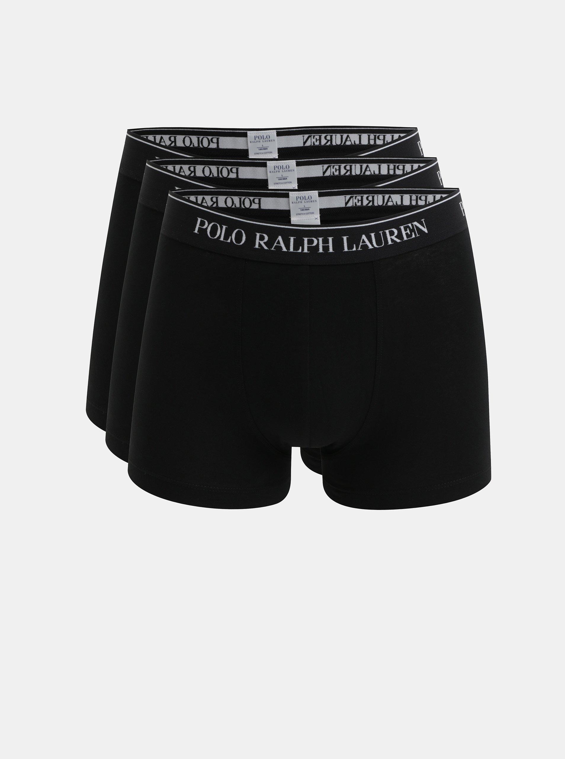 Sada tří boxerek v černé barvě POLO Ralph Lauren