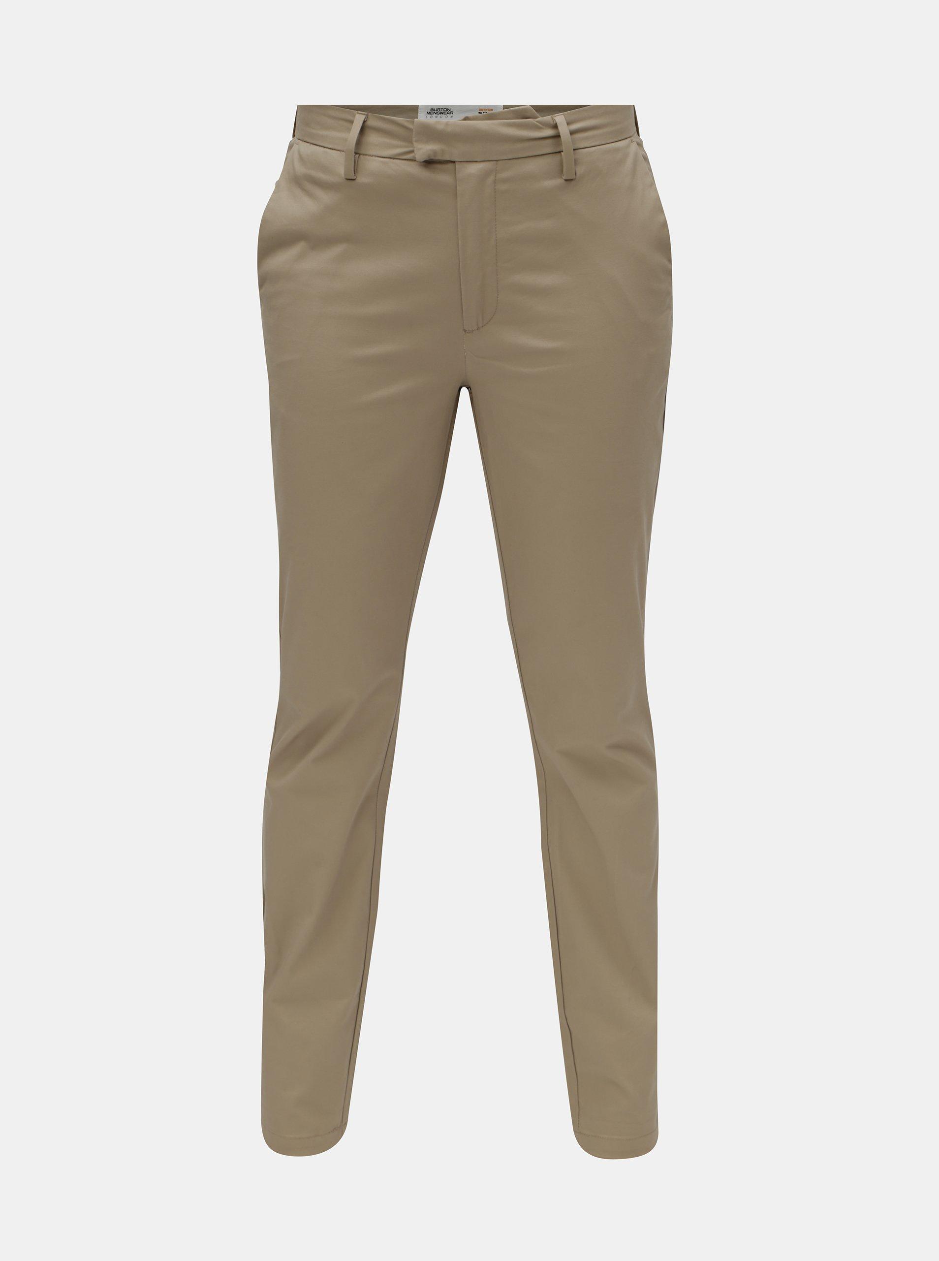 Fotografie Béžové pánské kalhoty Burton Menswear London