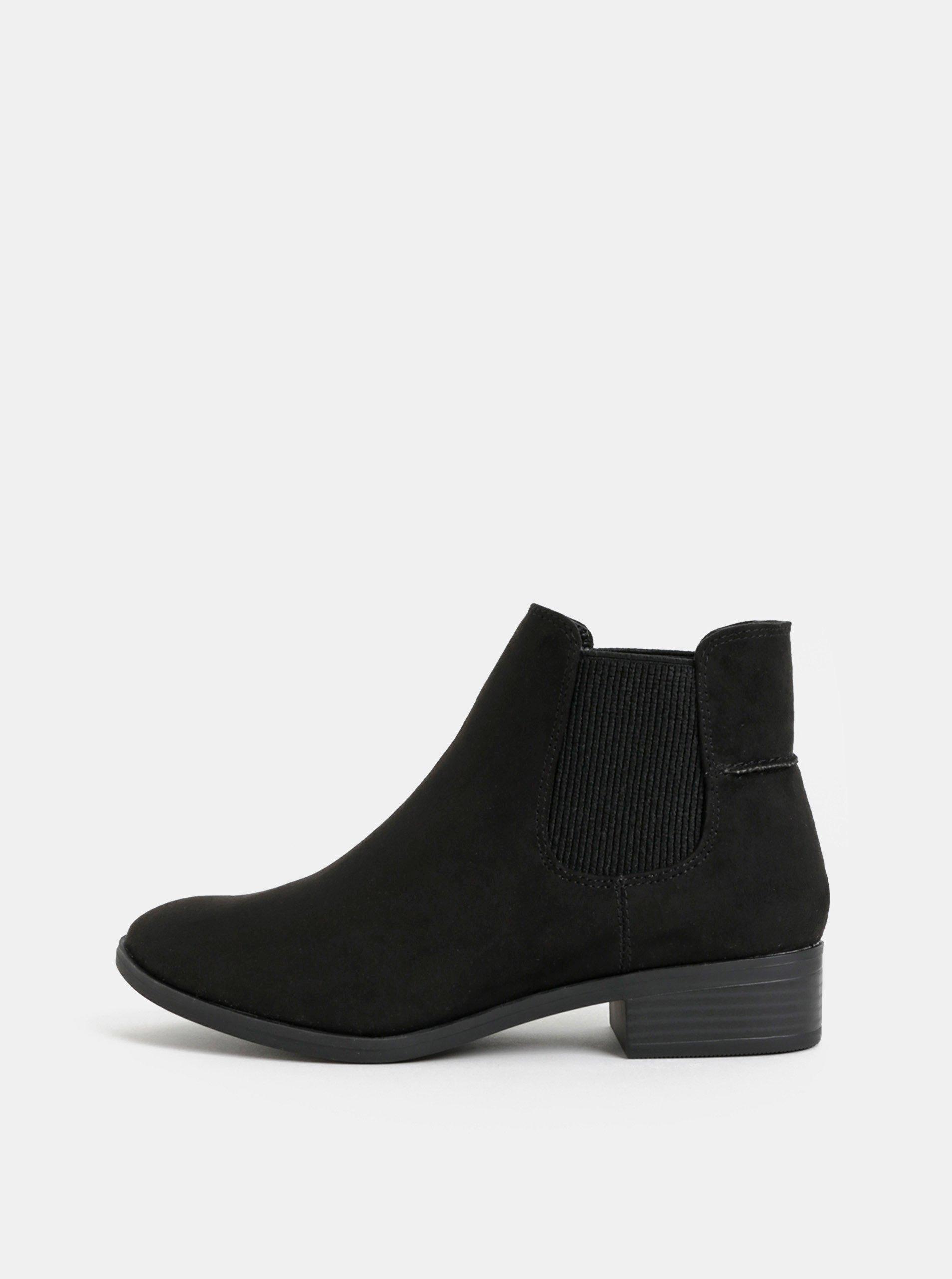 5f68a721ae Čierne chelsea topánky v semišovej úprave Dorothy Perkins Monty
