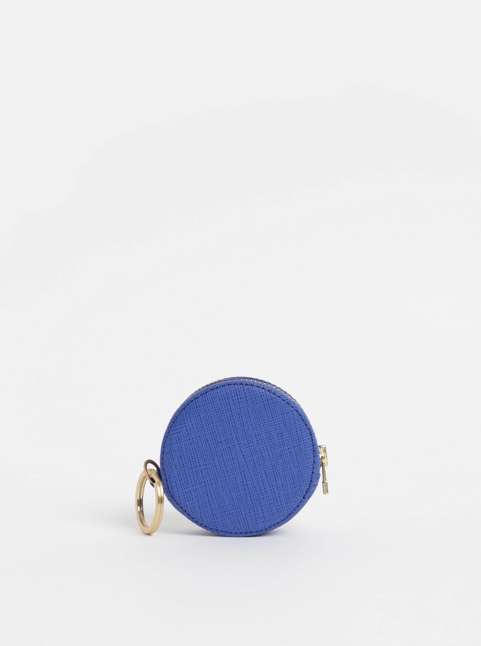 Tmavě modrá kožená peněženka na mince Vagabond Randers