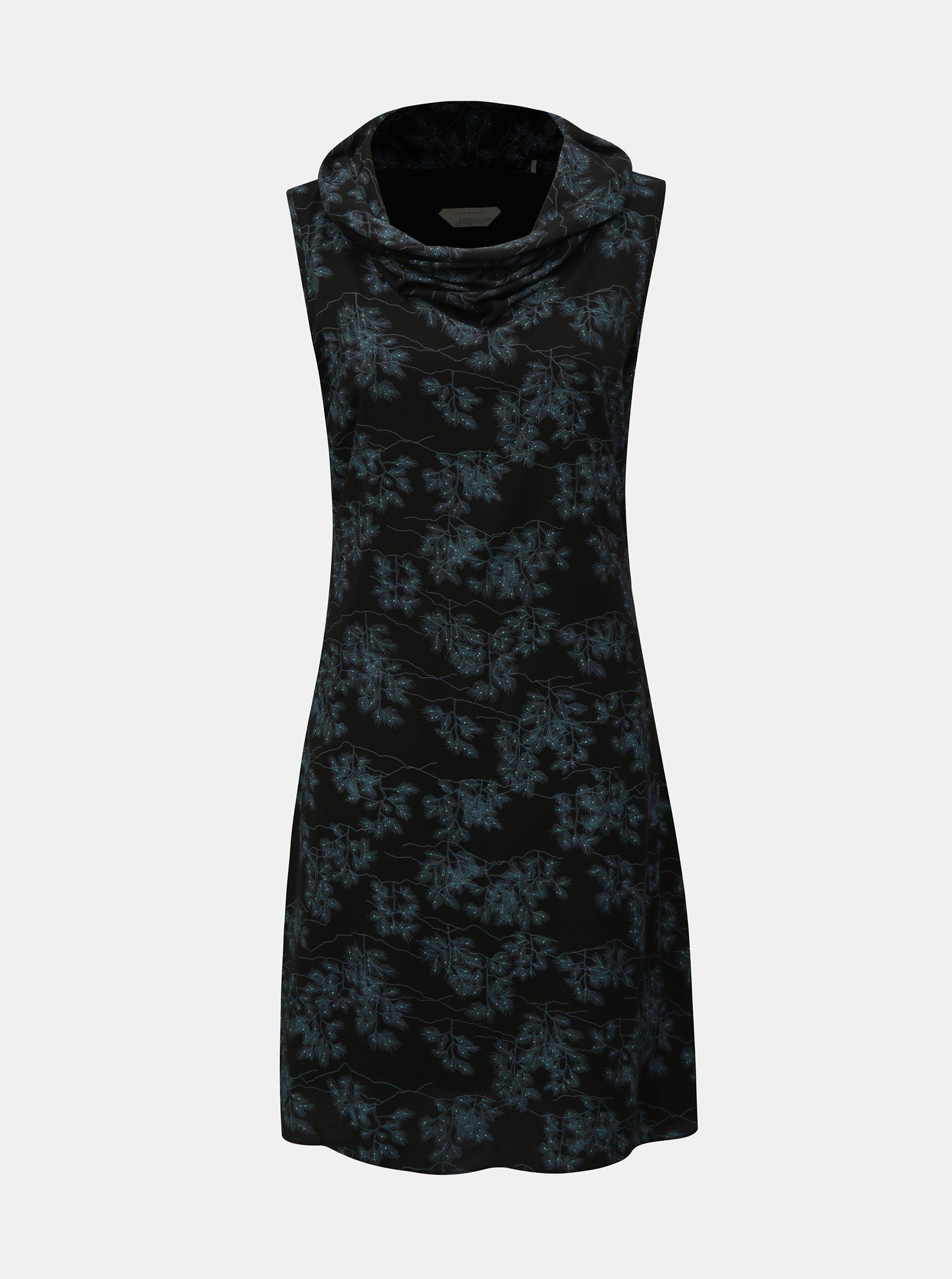 Modro-černé šaty bez rukávů SKFK