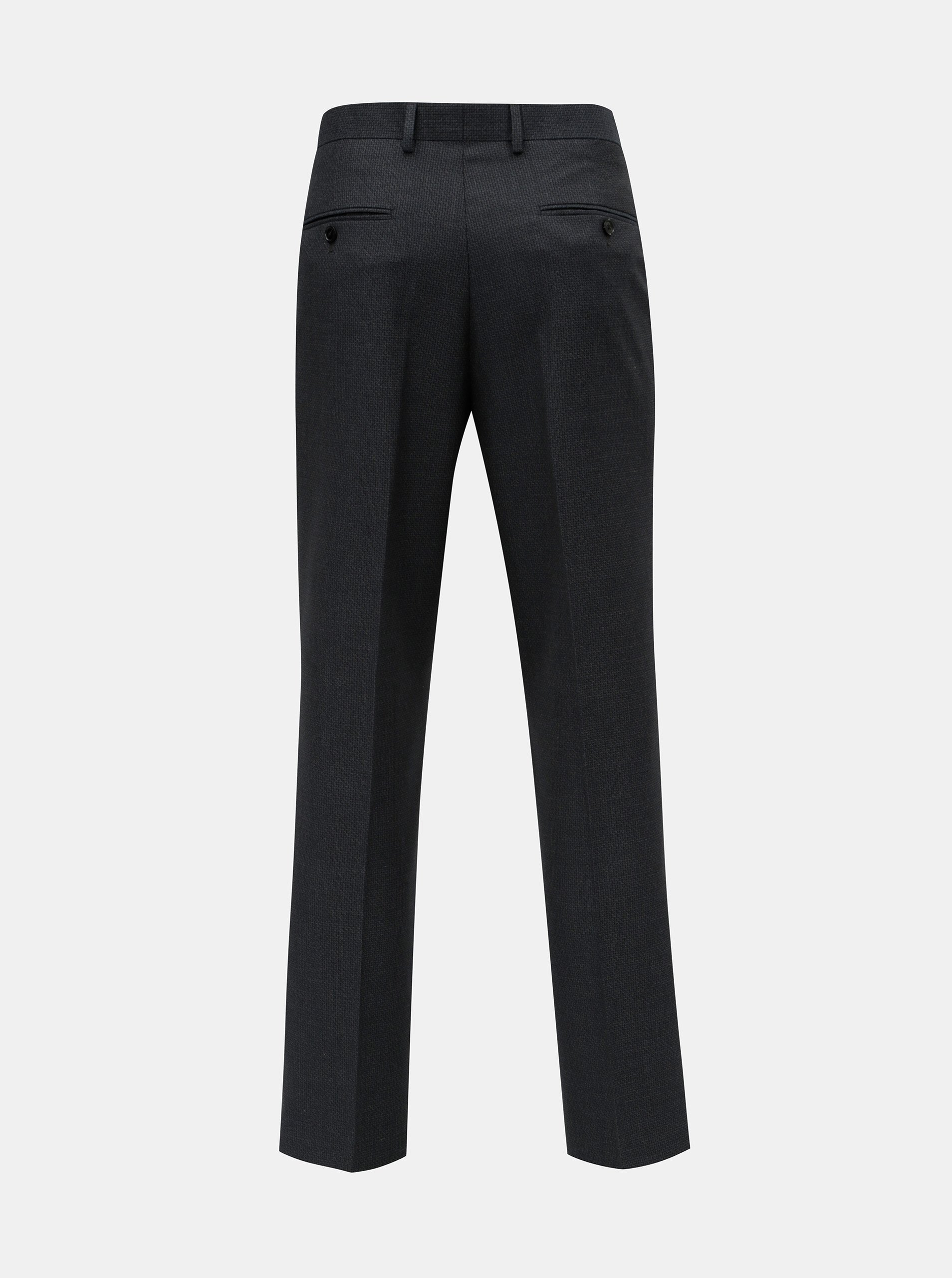 Tmavě modré oblekové kalhoty s puky Burton Menswear London