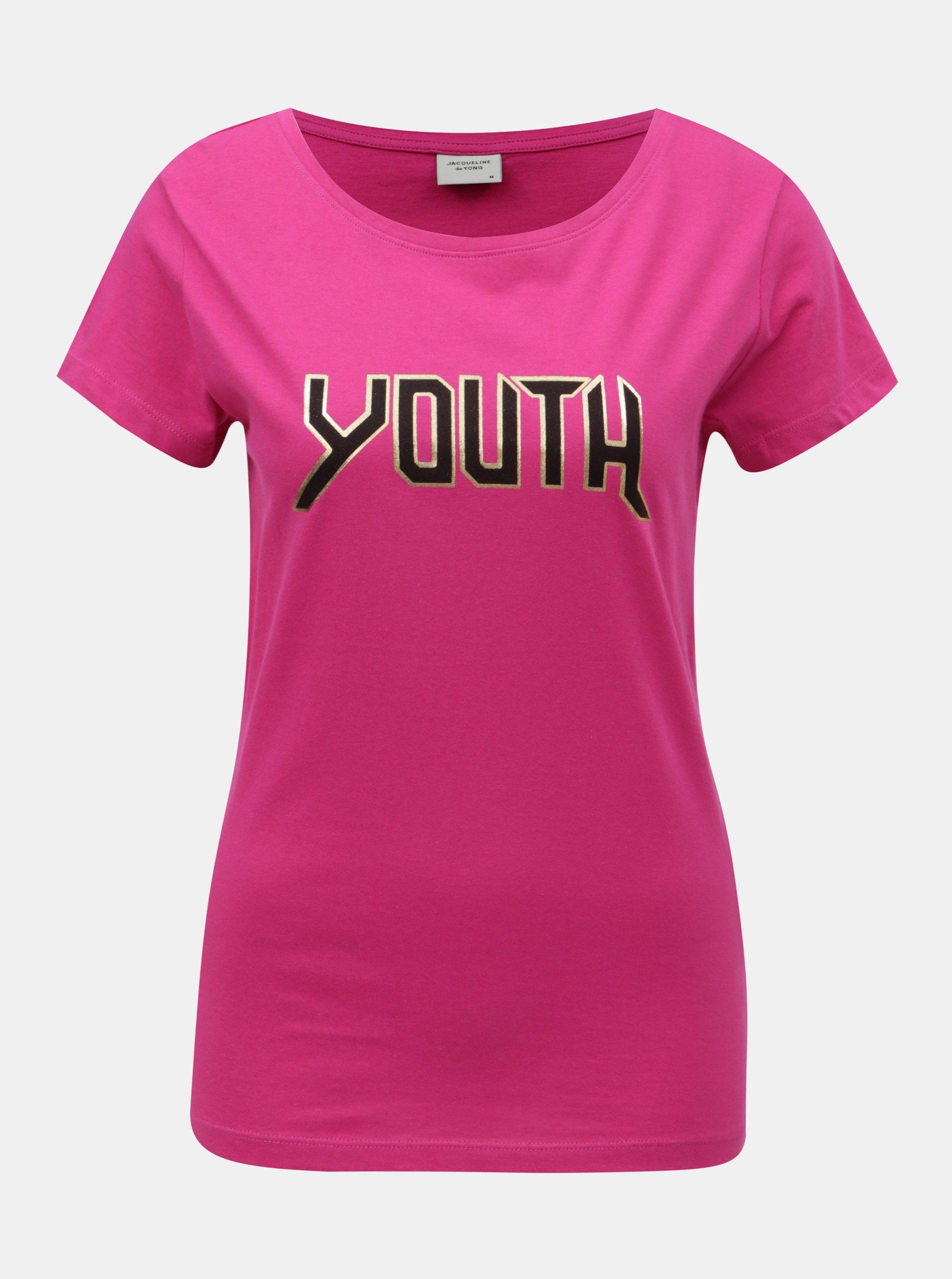 Růžové tričko s potiskem Jacqueline de Yong Chicago 9ecee3ed63