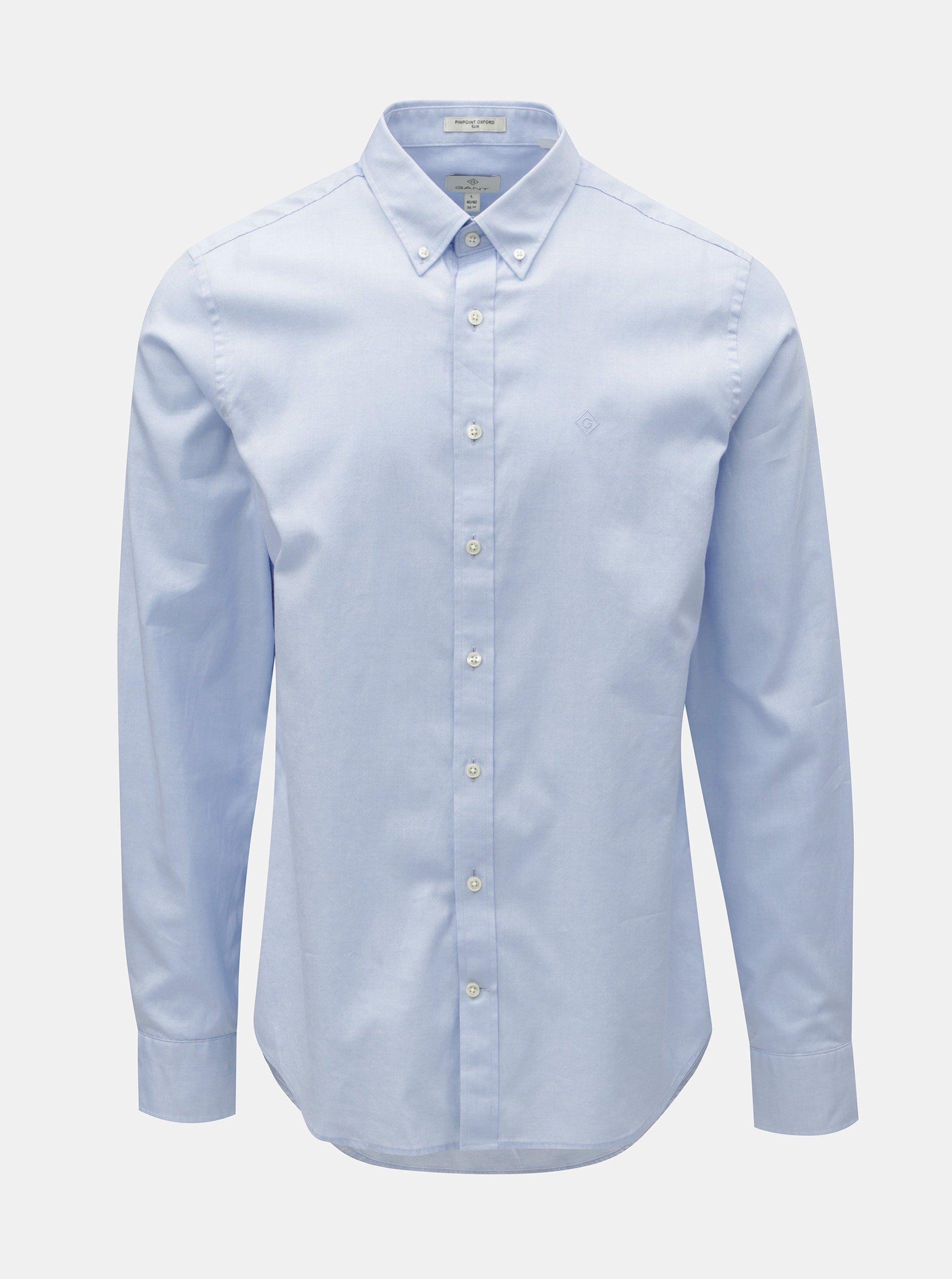 Světle modrá pánská formální slim fit košile GANT 3e555874be