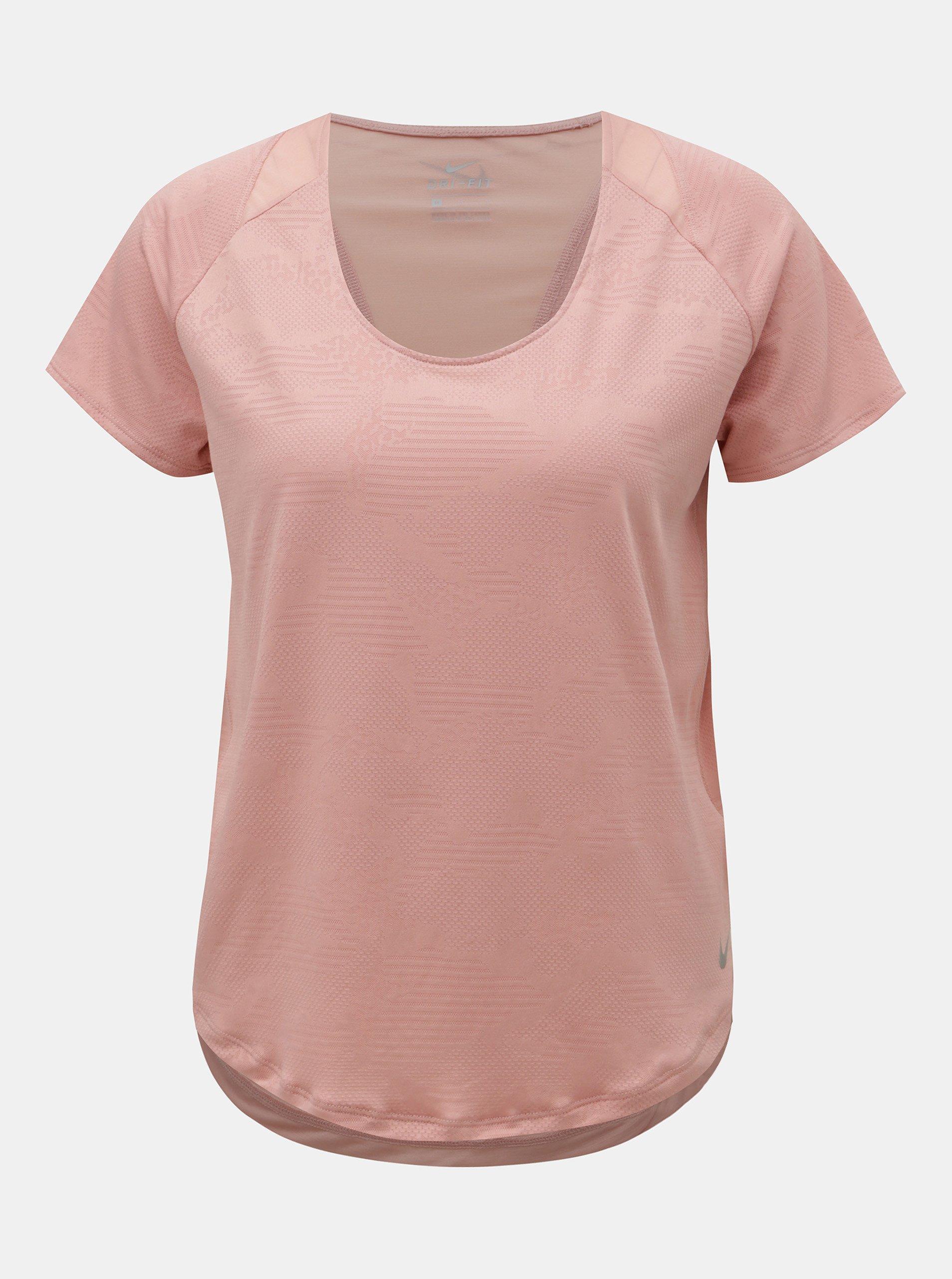2e8f75b651e5 Ružové funkčné tričko s krátkym rukávom Nike