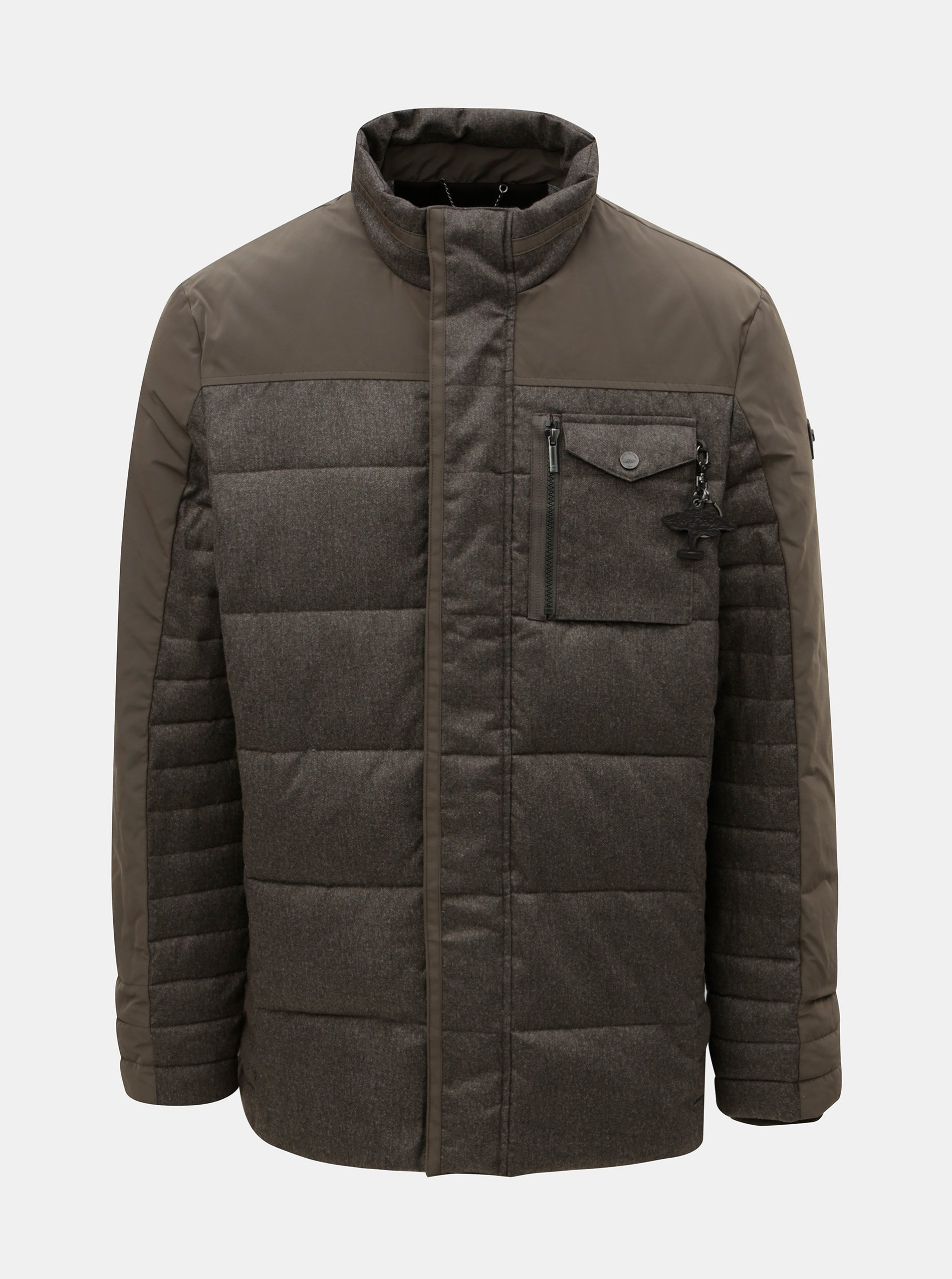 Hnědá prošívaná zimní bunda Fynch-Hatton