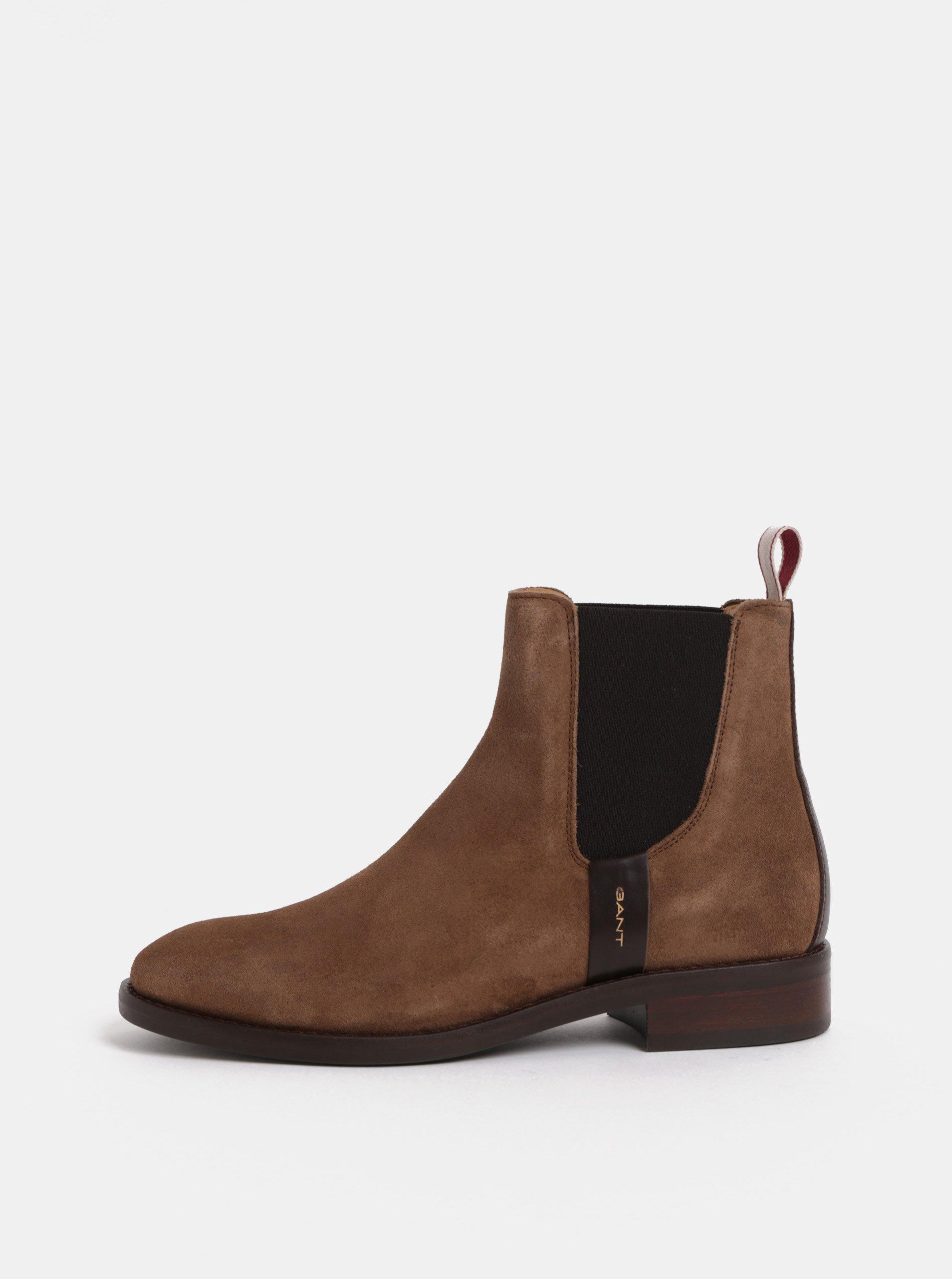 cc1c05b2df89 Hnedé dámske semišové chelsea topánky GANT