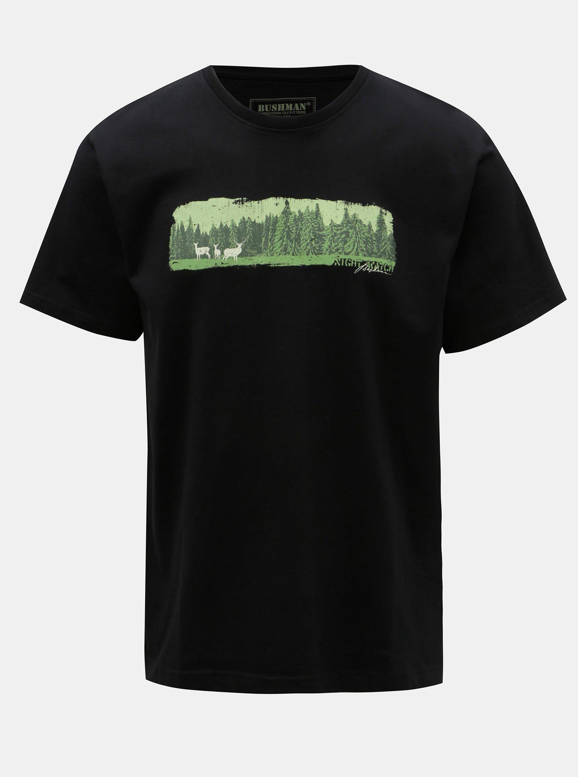 66e70b23a94 Černé pánské tričko s potiskem BUSHMAN Dawson
