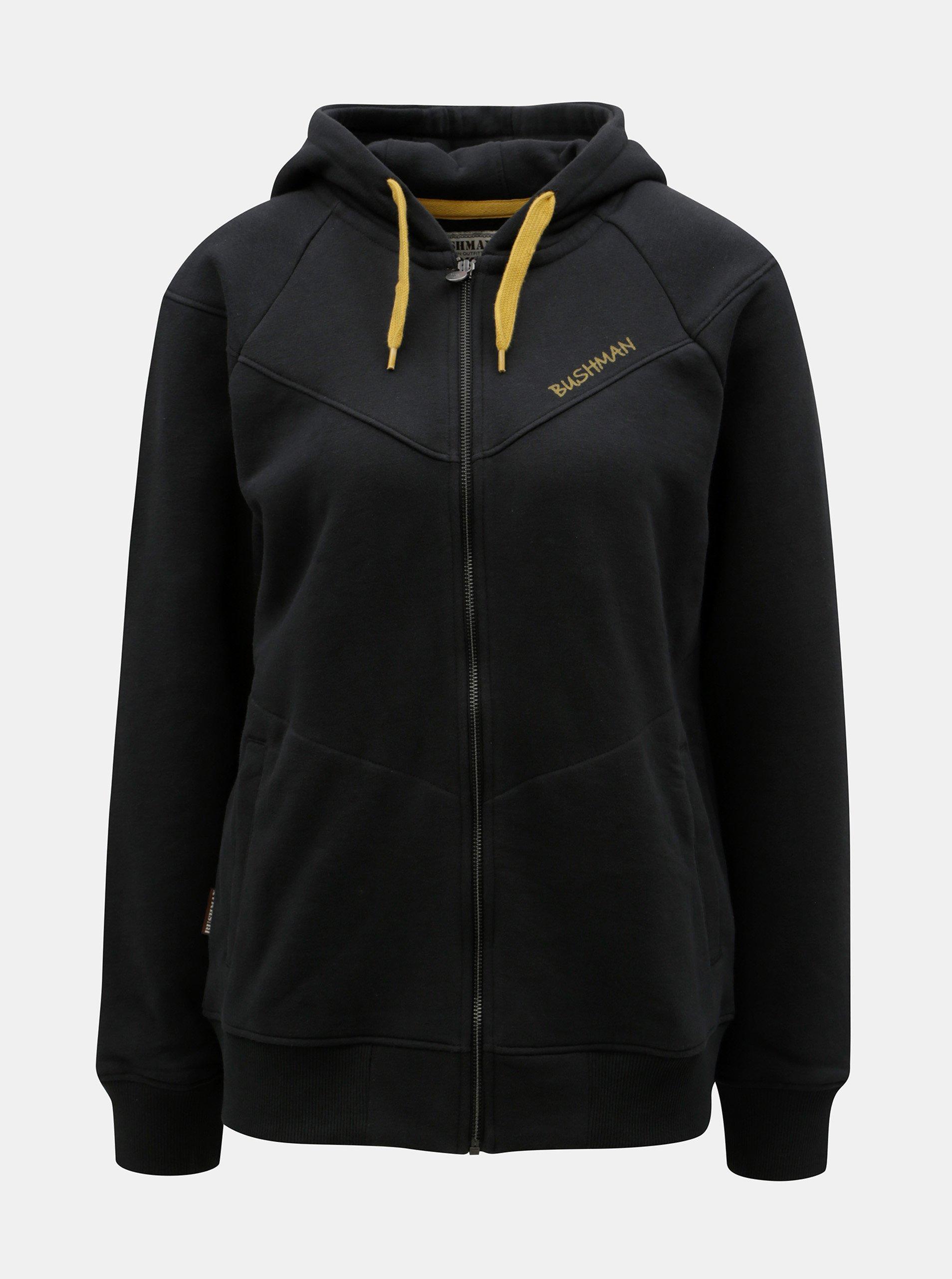 Čierna dámska mikina na zips BUSHMAN Skokie 5f1219749b6