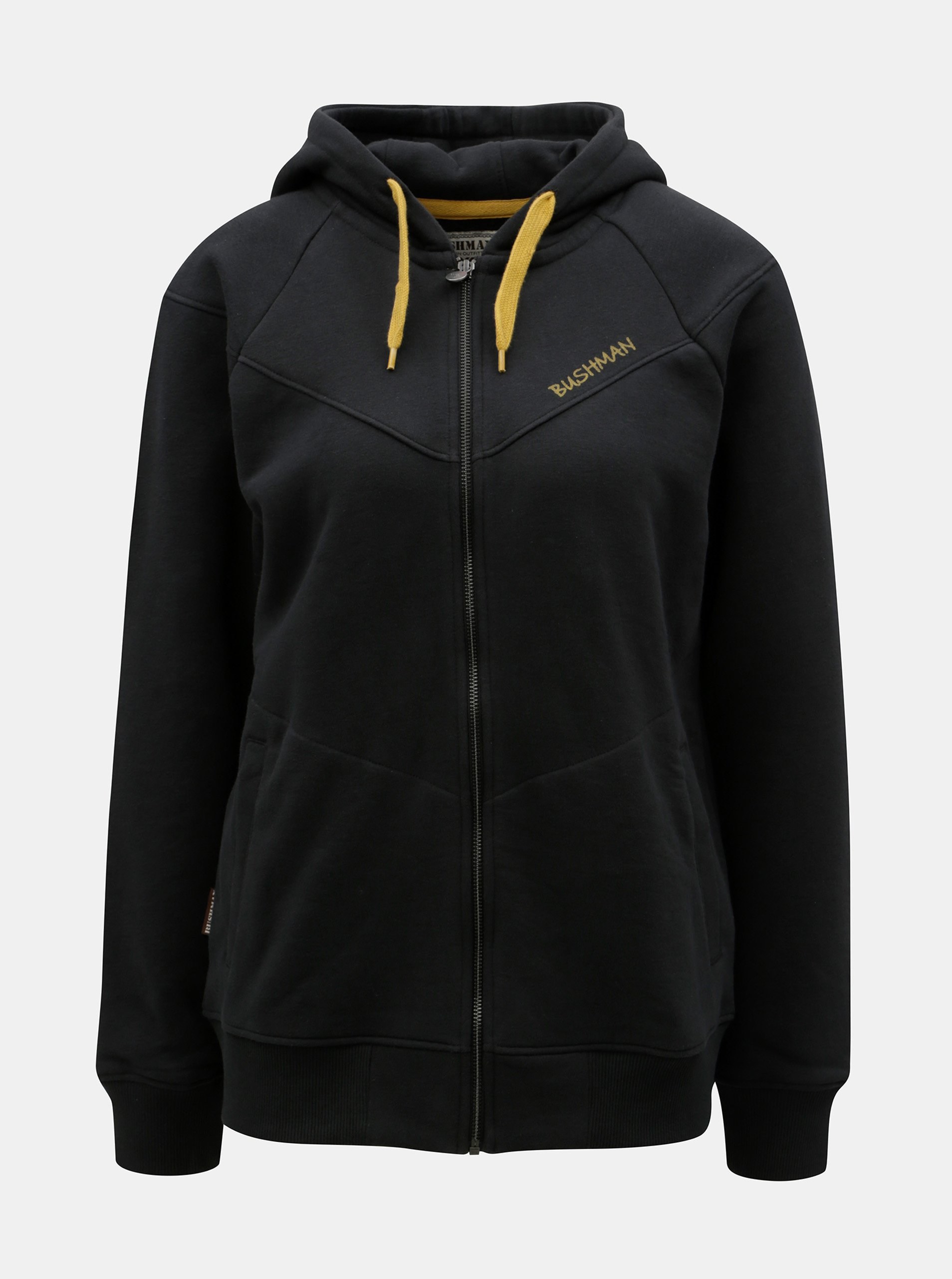 Černá dámská mikina na zip BUSHMAN Skokie 40fc6205b9