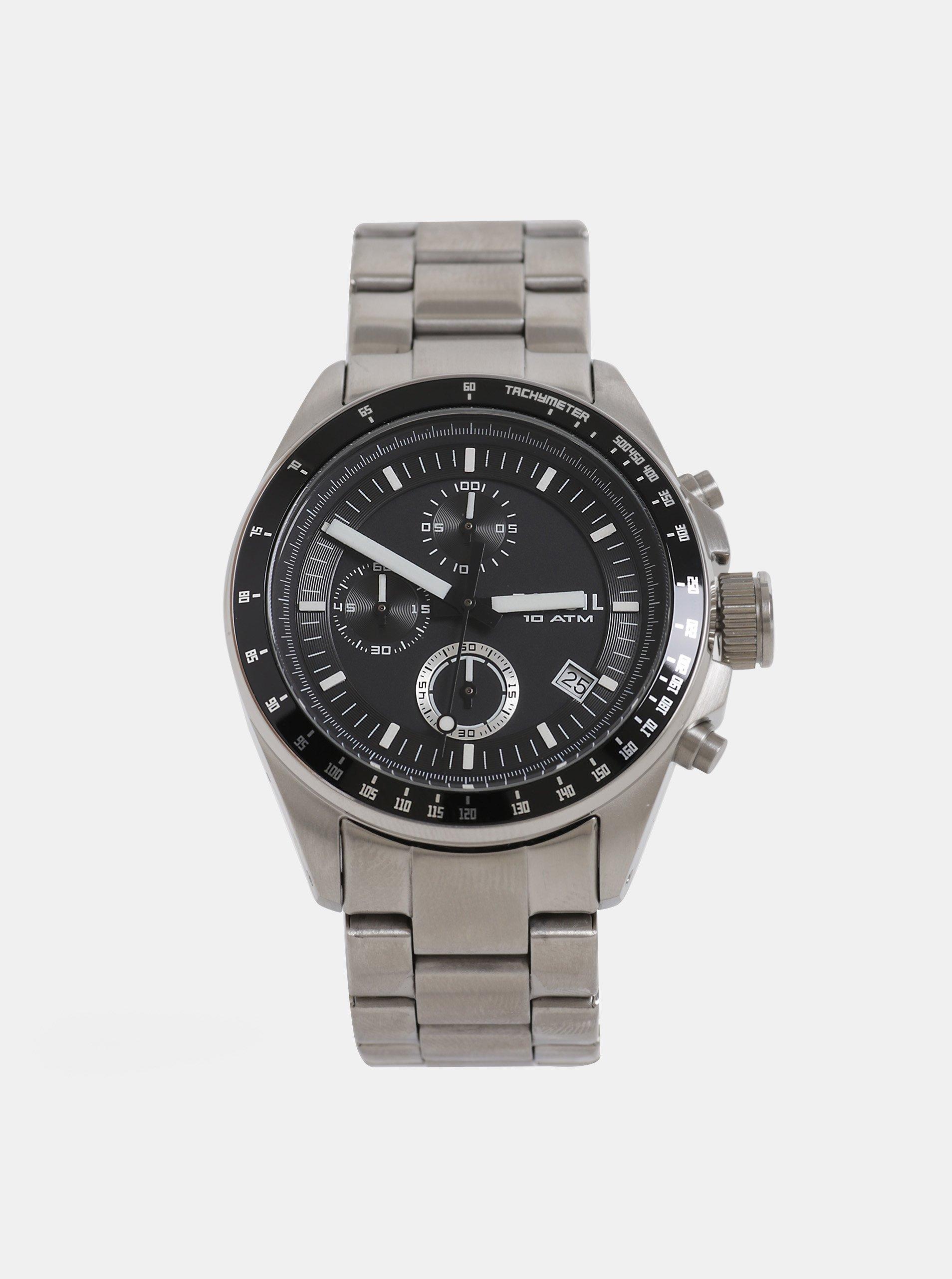 Pánské hodinky ve stříbrné barvě Fossil Decker 3e2cab8ee9
