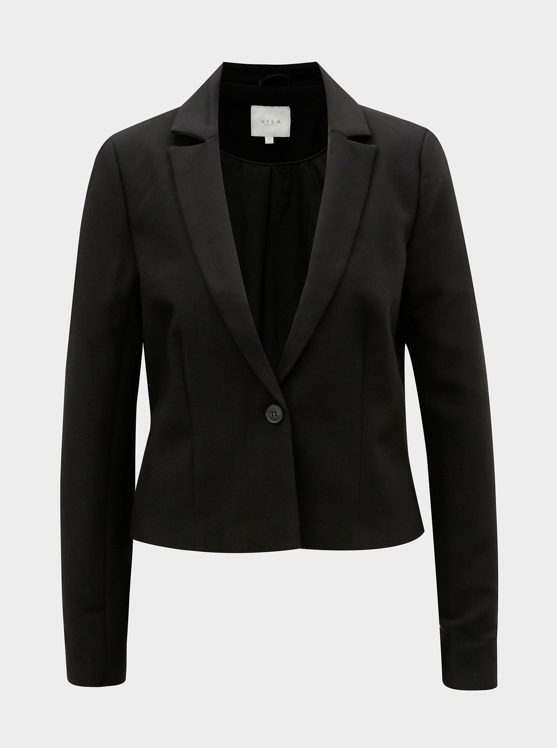 Čierne sako VILA Charlotte