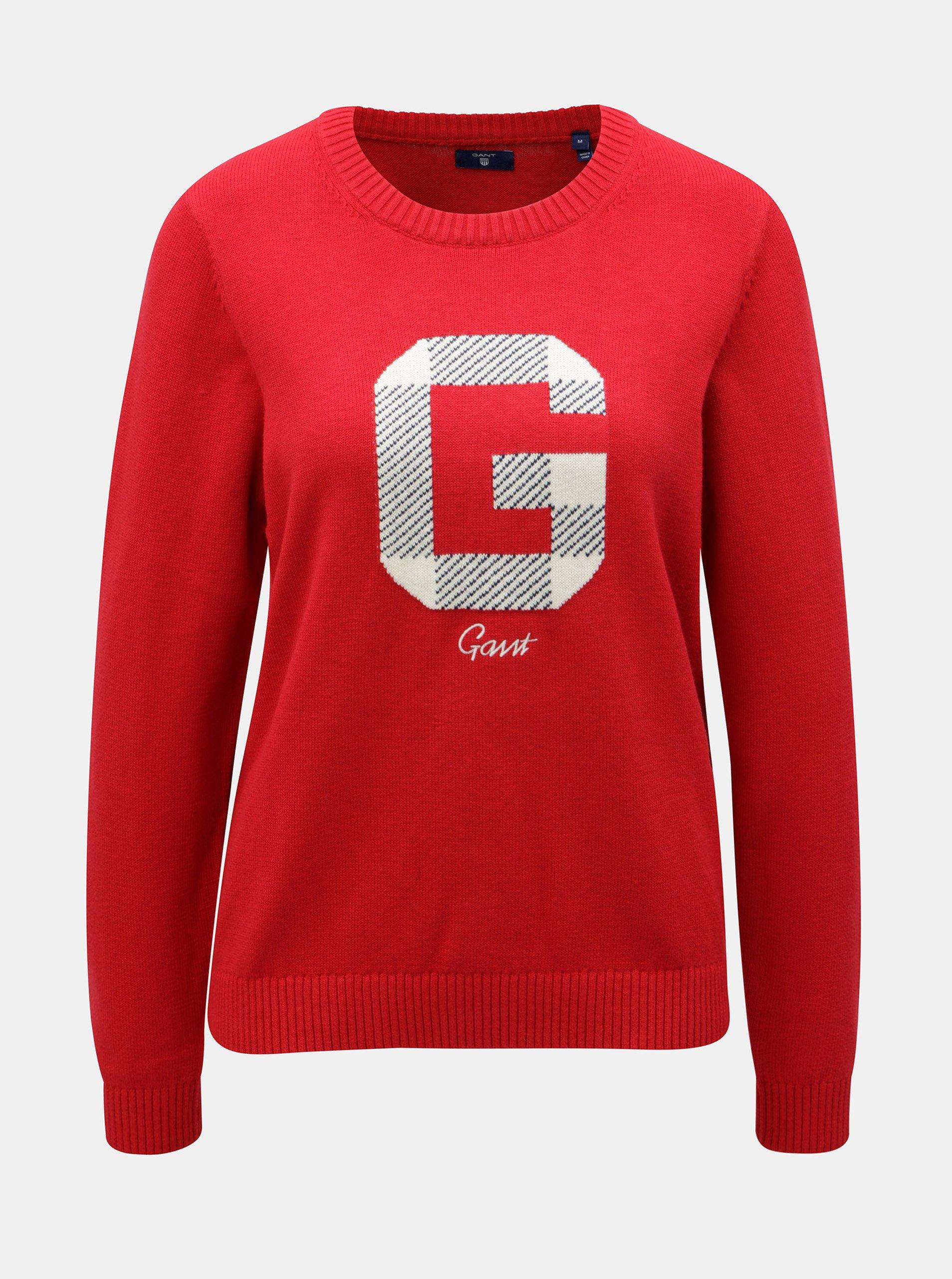 Červený dámsky sveter s prímesou vlny GANT