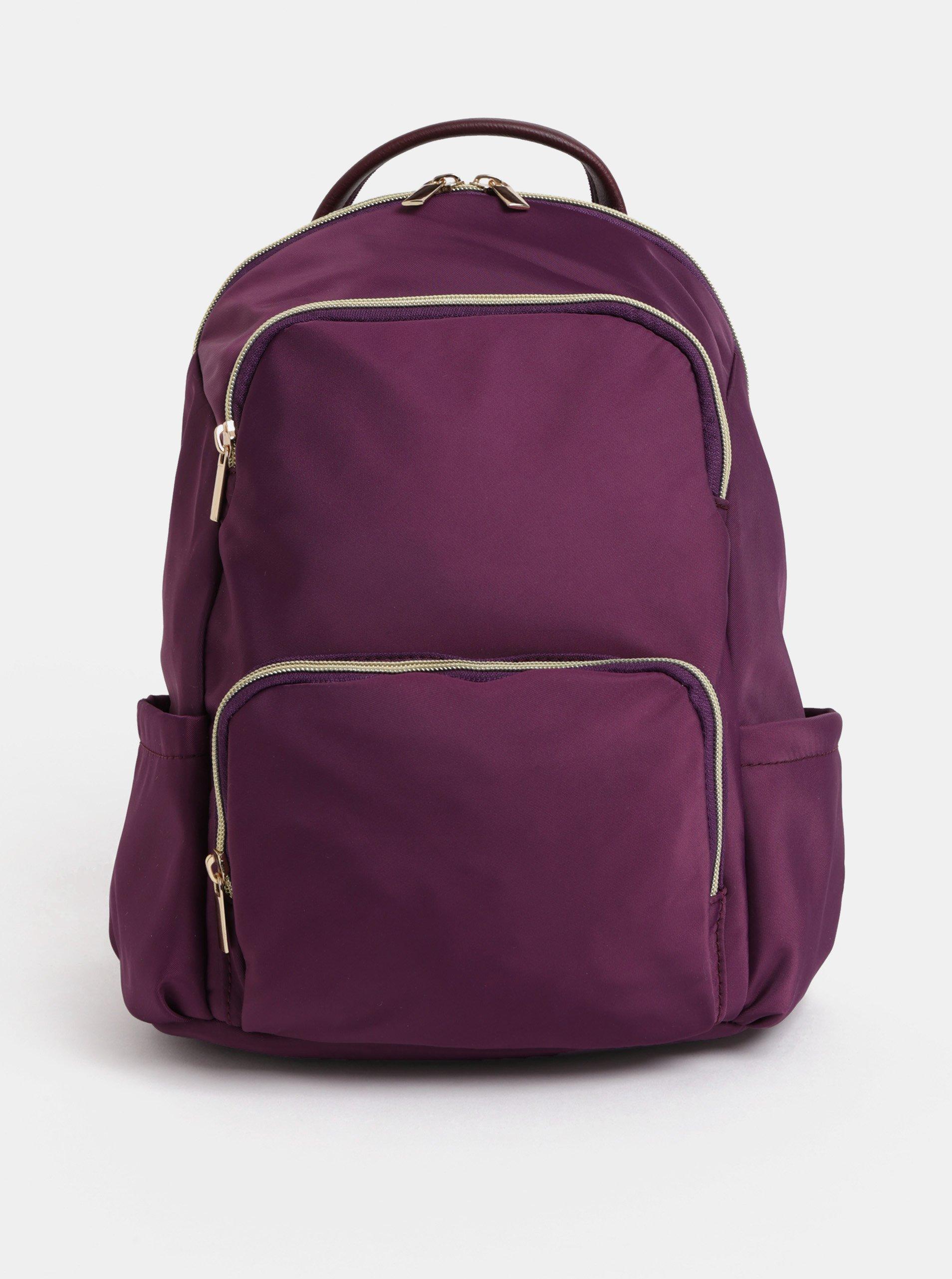 Fialový batoh se zipy ve zlaté barvě ZOOT ecbd858181