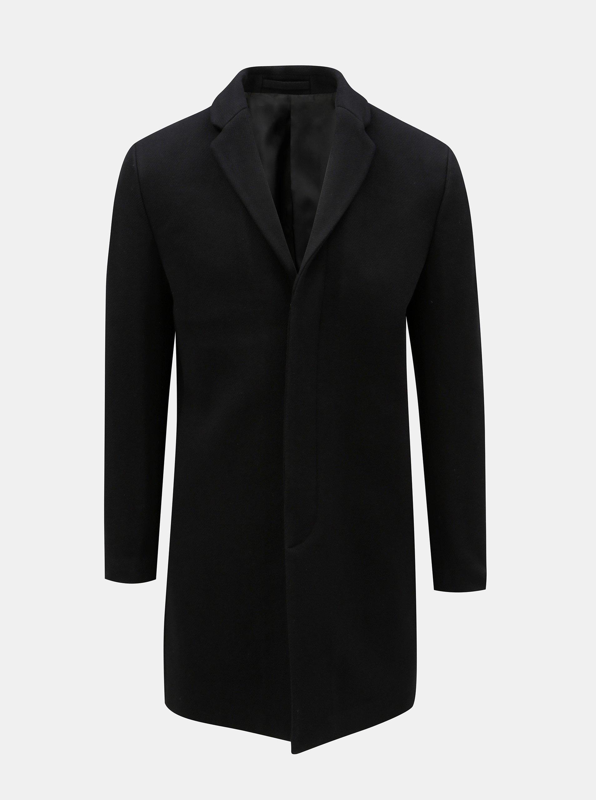 Černý vlněný kabát Selected Homme a668c226bb6