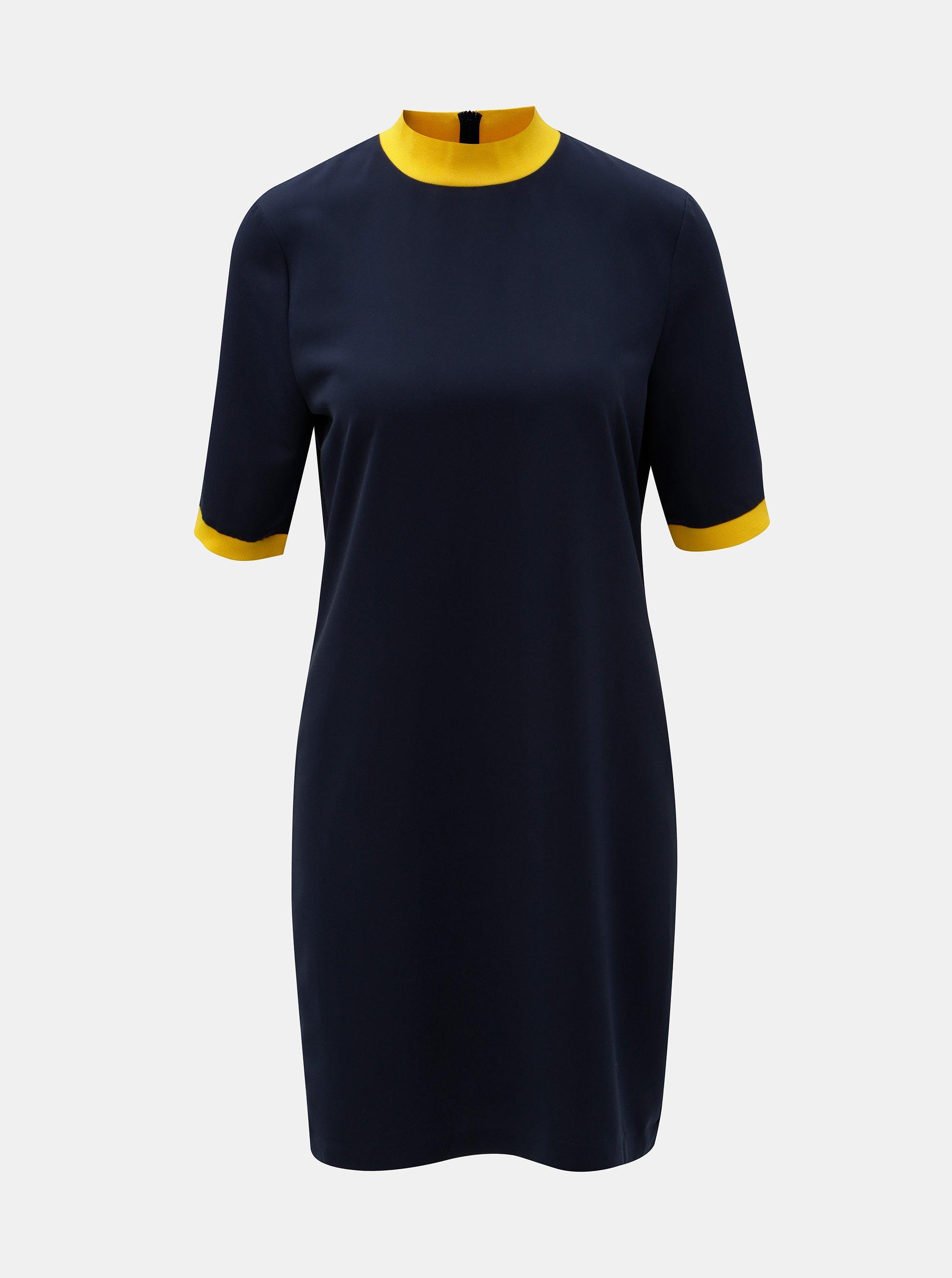 Tmavě modré šaty se stojáčkem Noisy May 94e5d67288