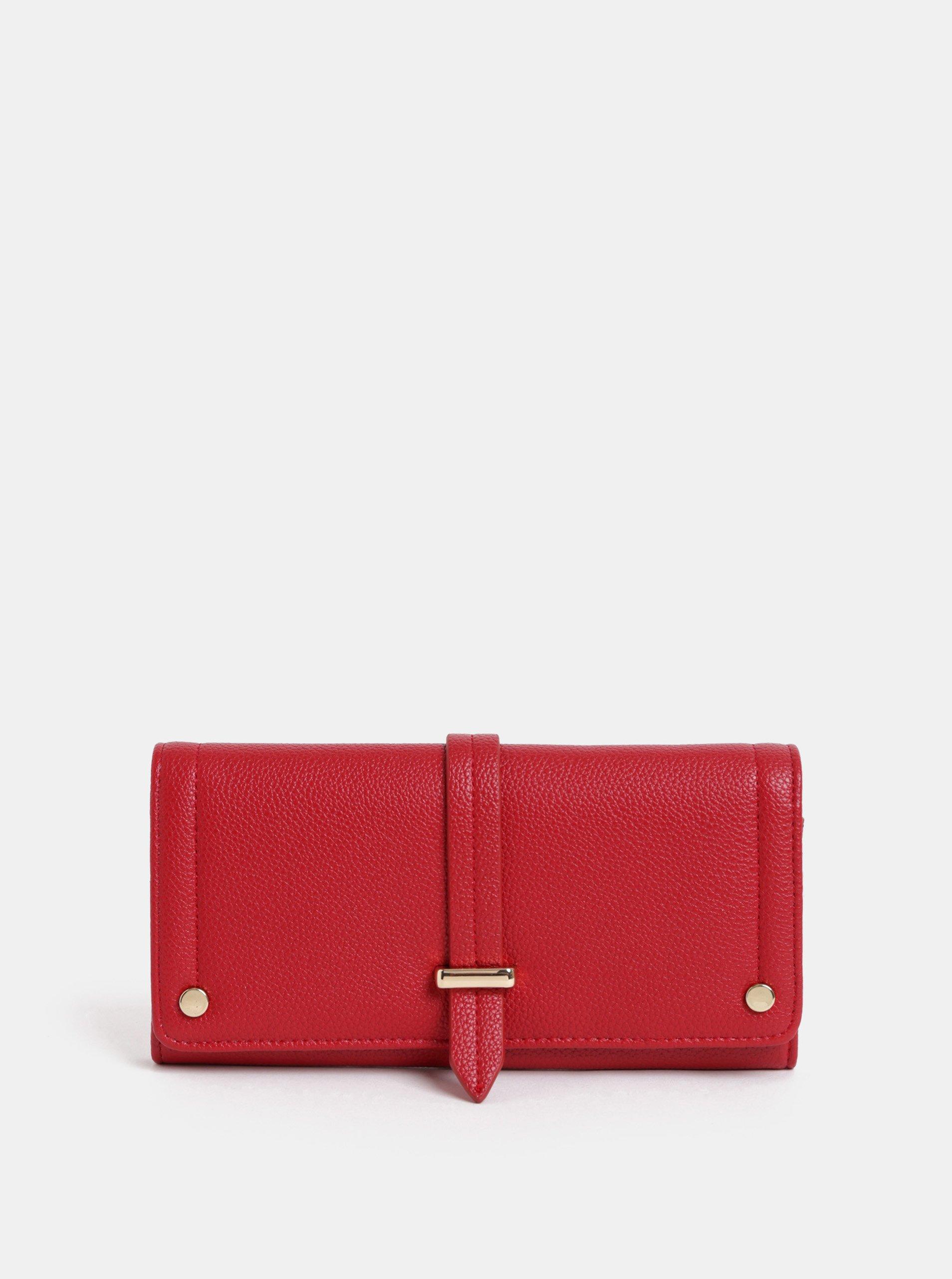 Červená peněženka Dorothy Perkins