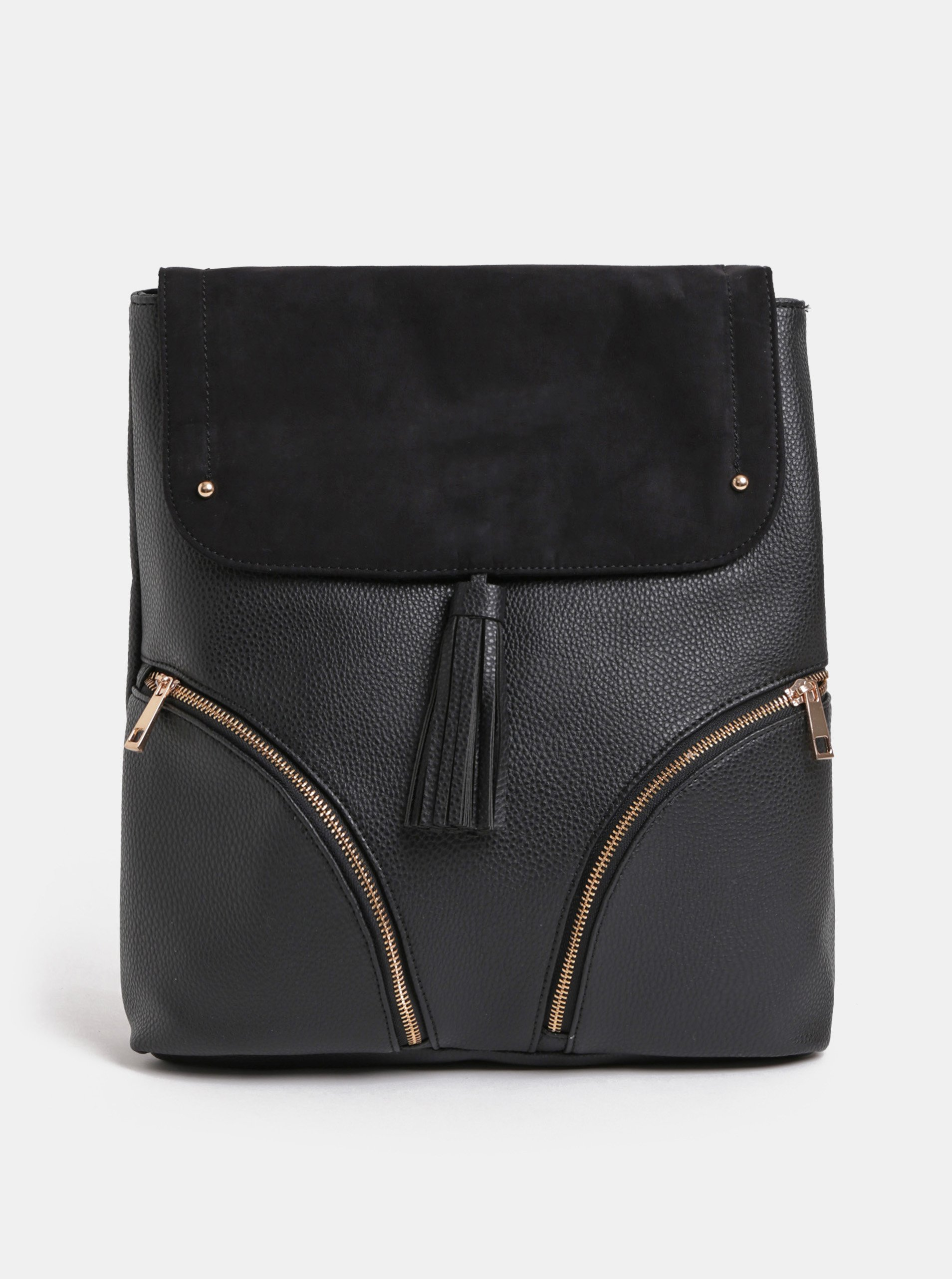 1ce31cd6cb6 Černý batoh s detaily v semišové úpravě Dorothy Perkins