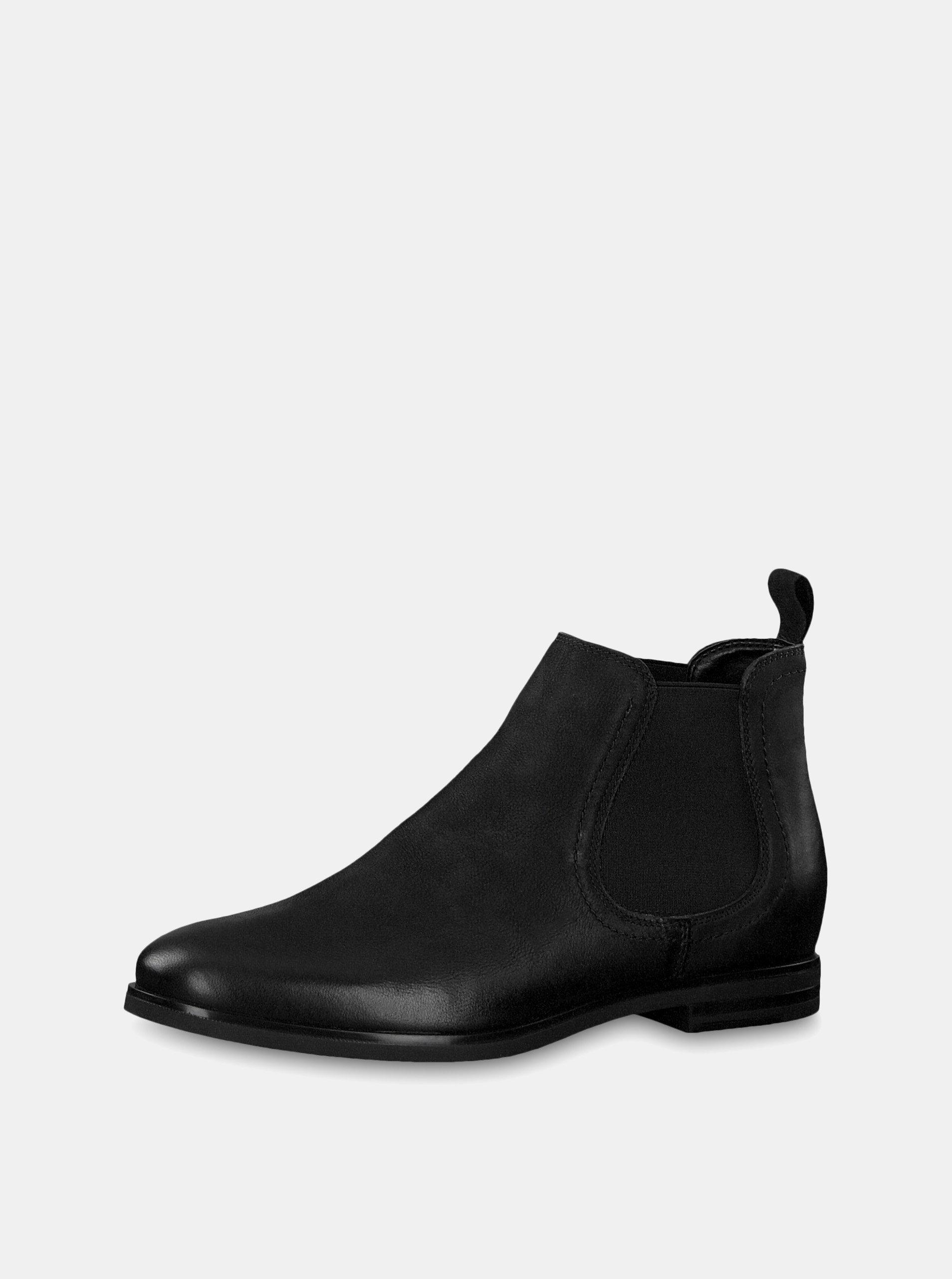 80afcddc3b1f Čierne kožené chelsea topánky Tamaris