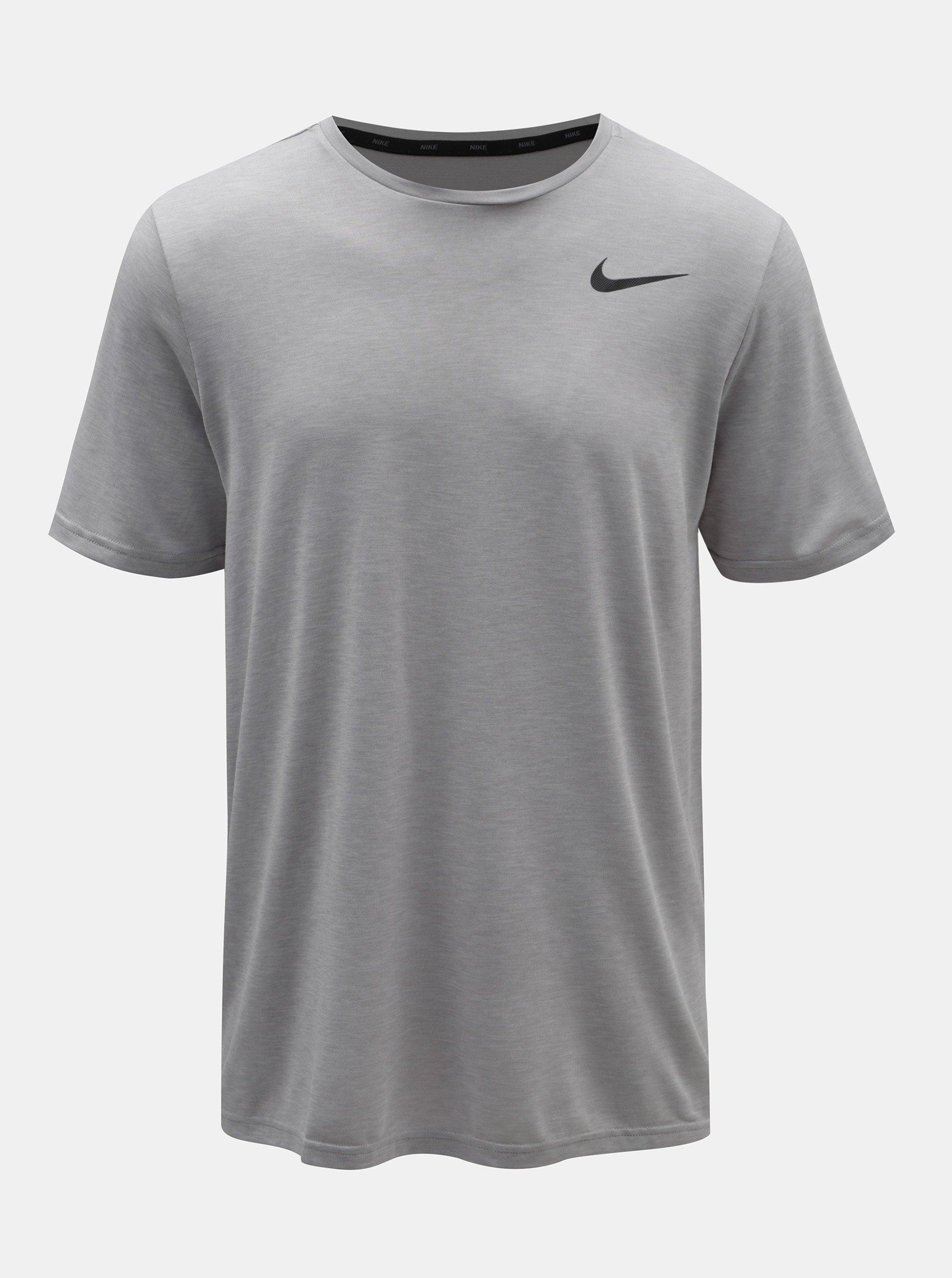 47a5baaa6f4 Šedé pánské žíhané tričko Nike